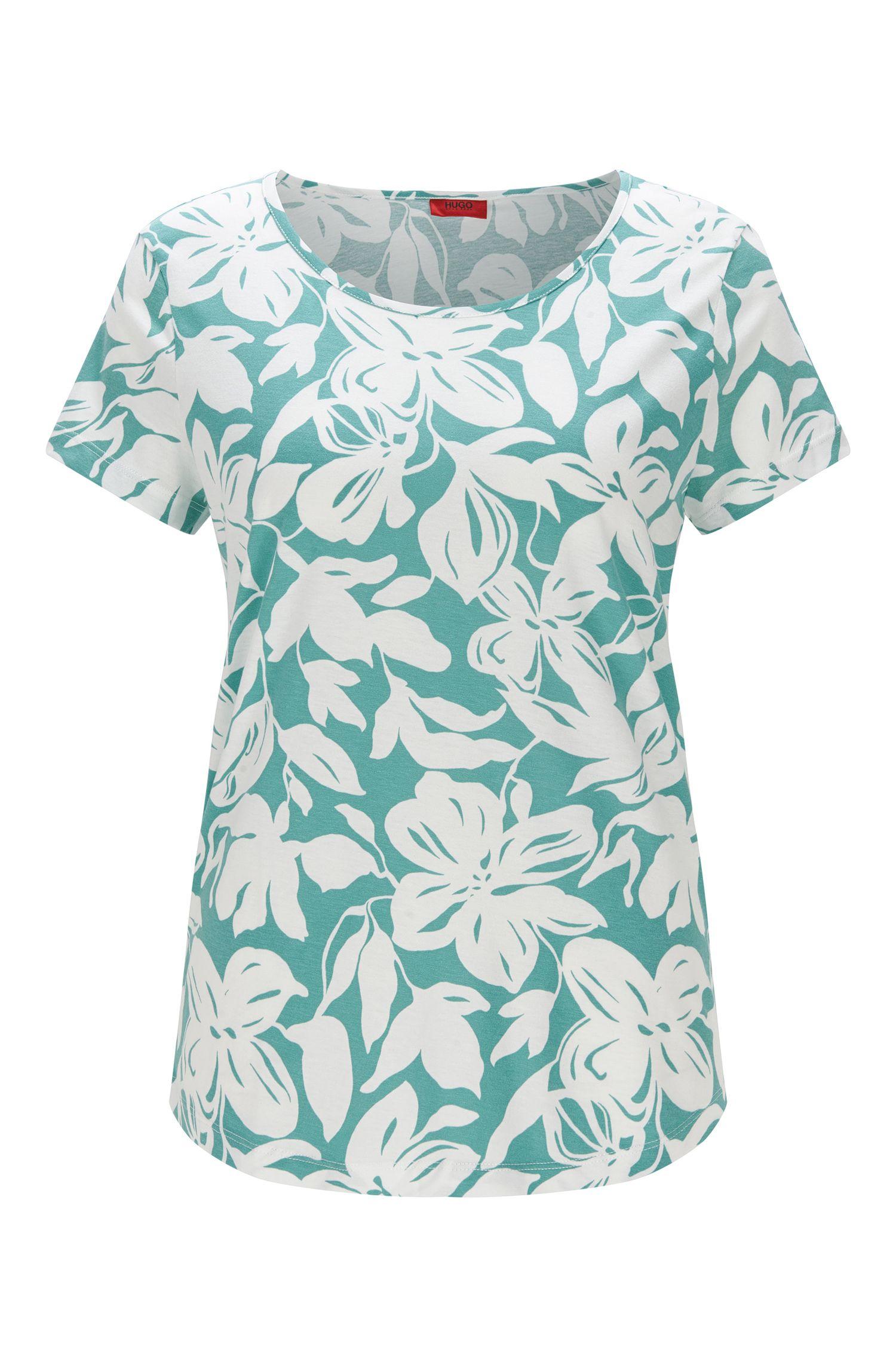 'Divenis' | Stretch Modal Floral T-Shirt