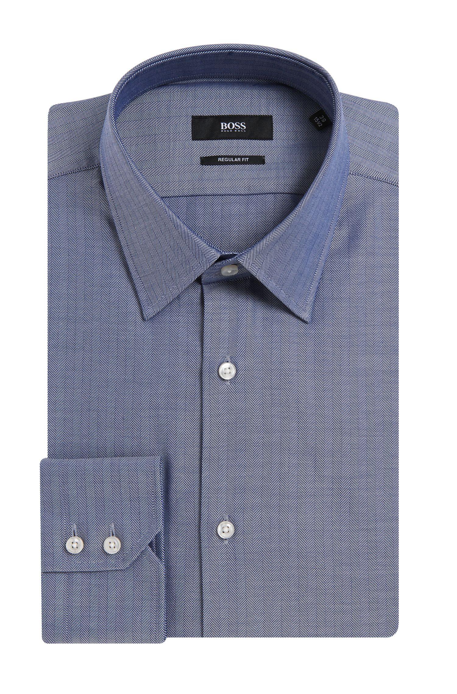 'Enzo' | Regular Fit, Point Collar Cotton Dress Shirt