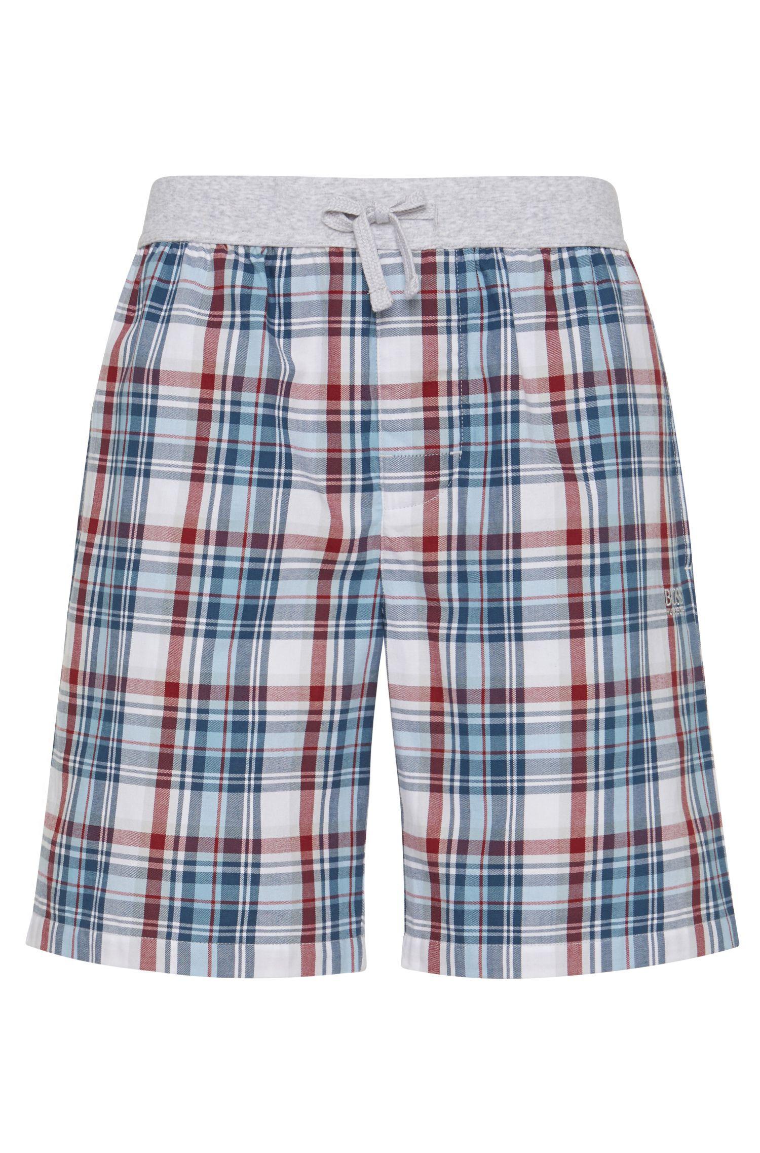 'Short Pant CW' | Cotton Plaid Lounge Shorts