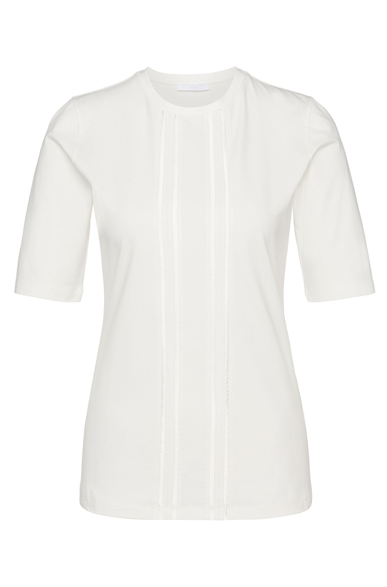 'Ejena'   Stretch Cotton Silk Blouse