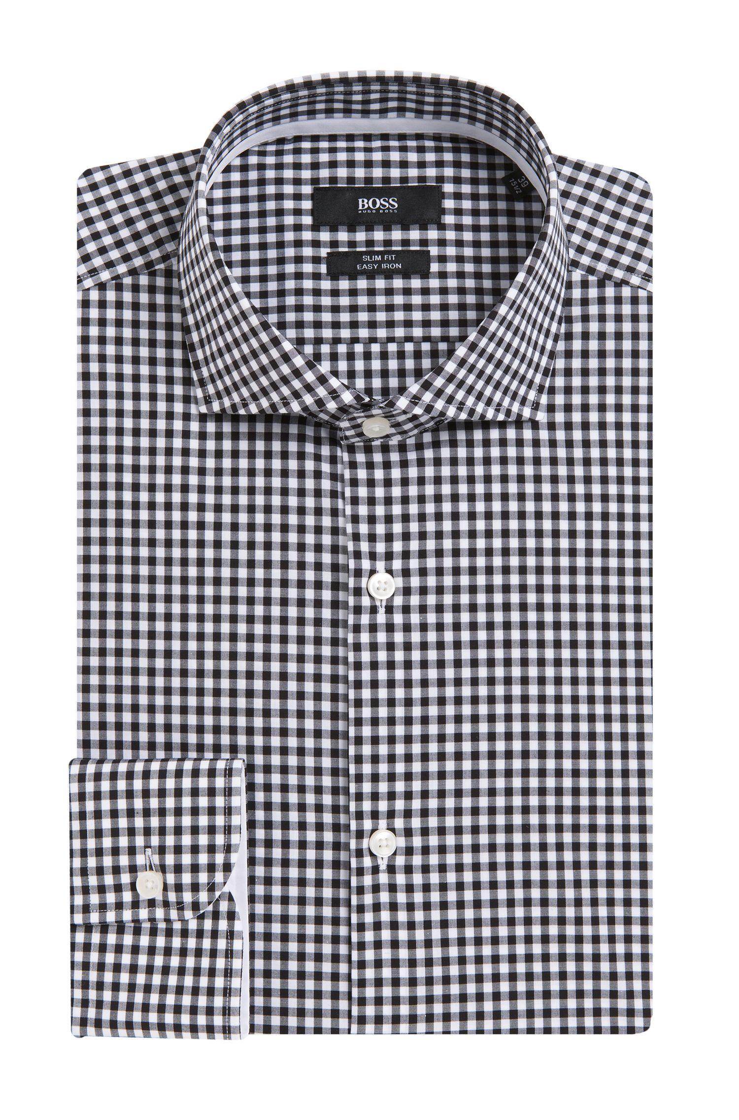 'Jery' | Slim Fit, Easy Iron Cotton Dress Shirt