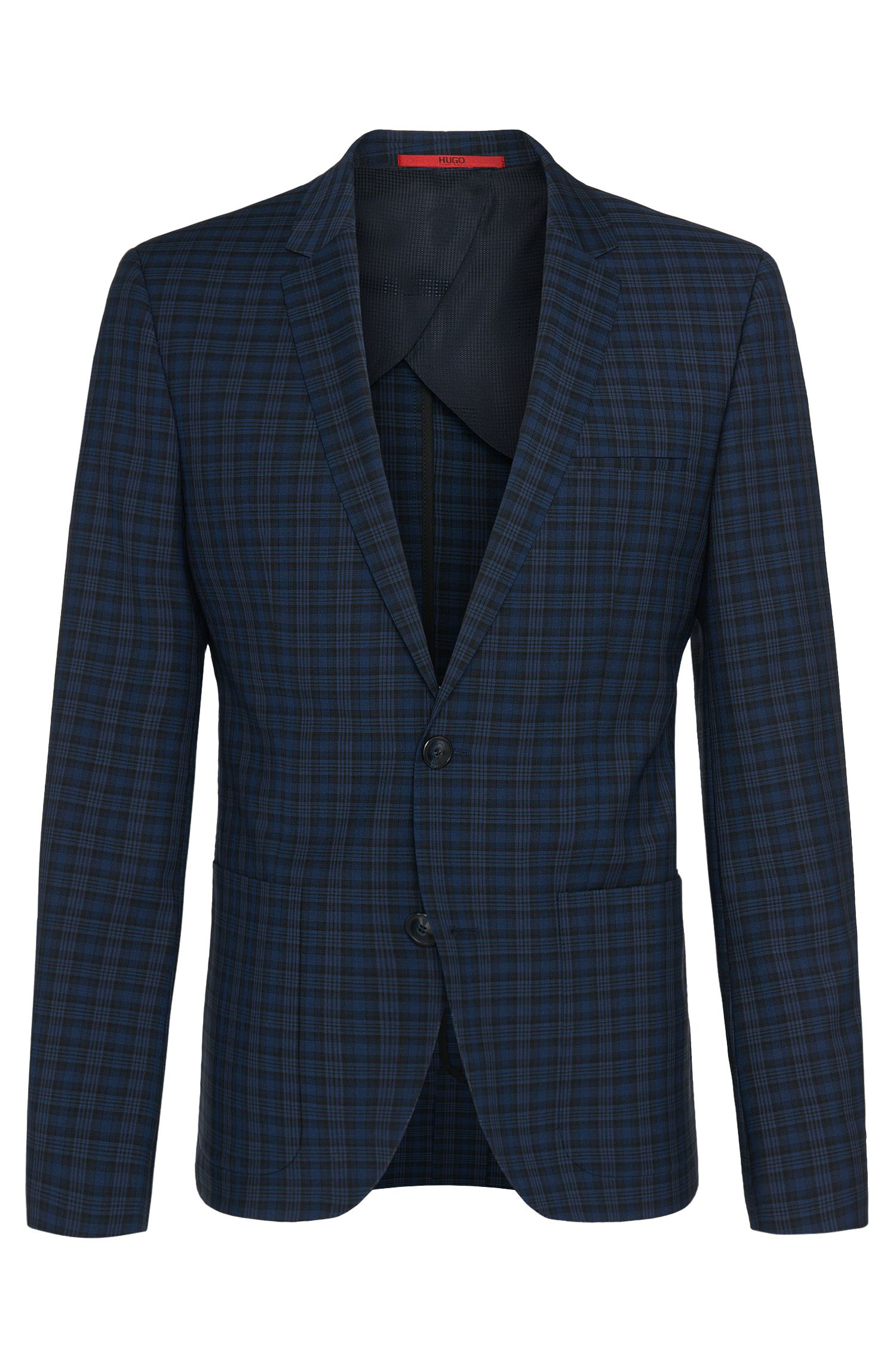 'Alesono' | Slim Fit, Virgin Wool Plaid Sport Coat