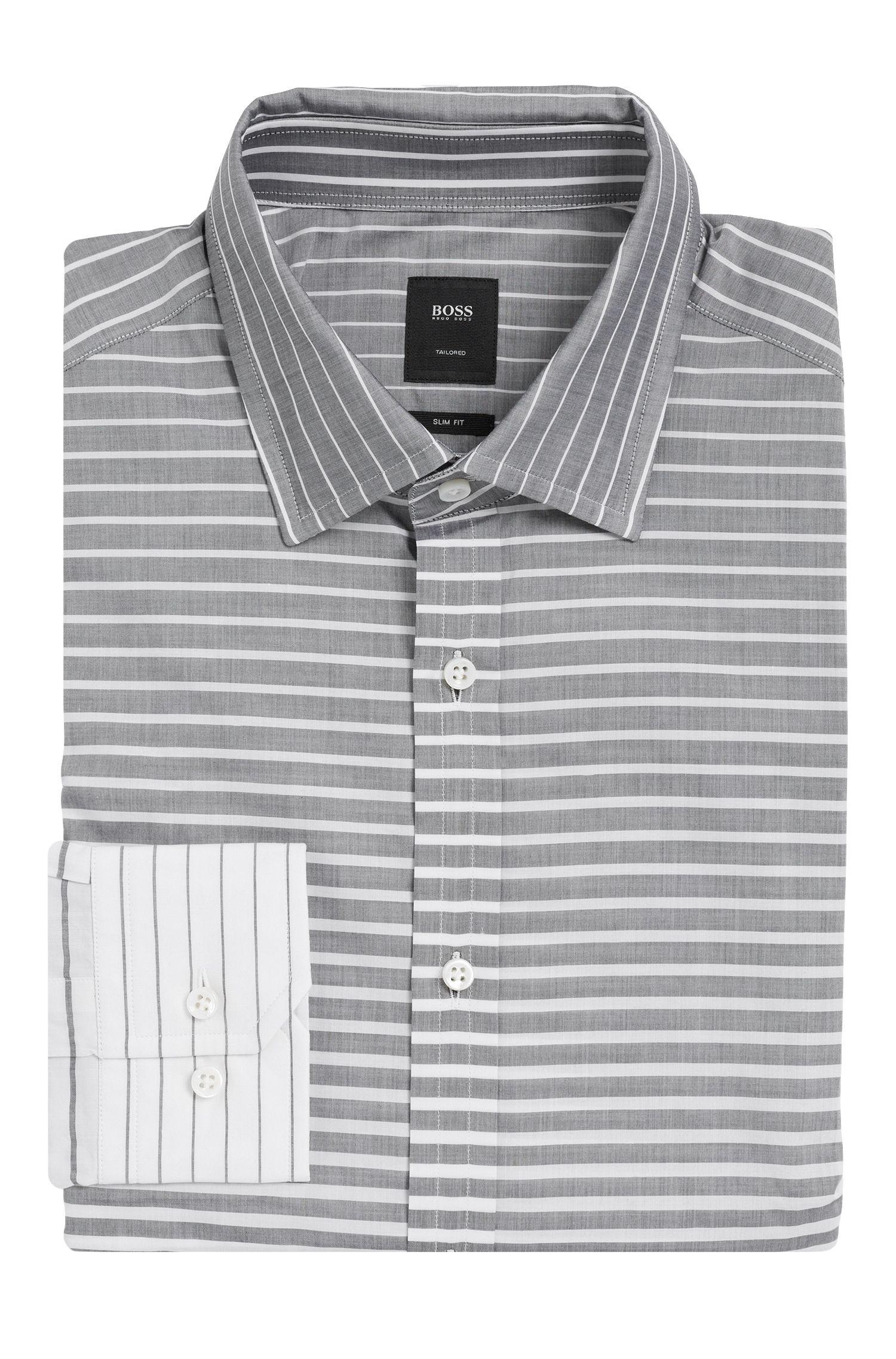 'T-Shane' | Slim Fit, Italian Cotton Dress Shirt