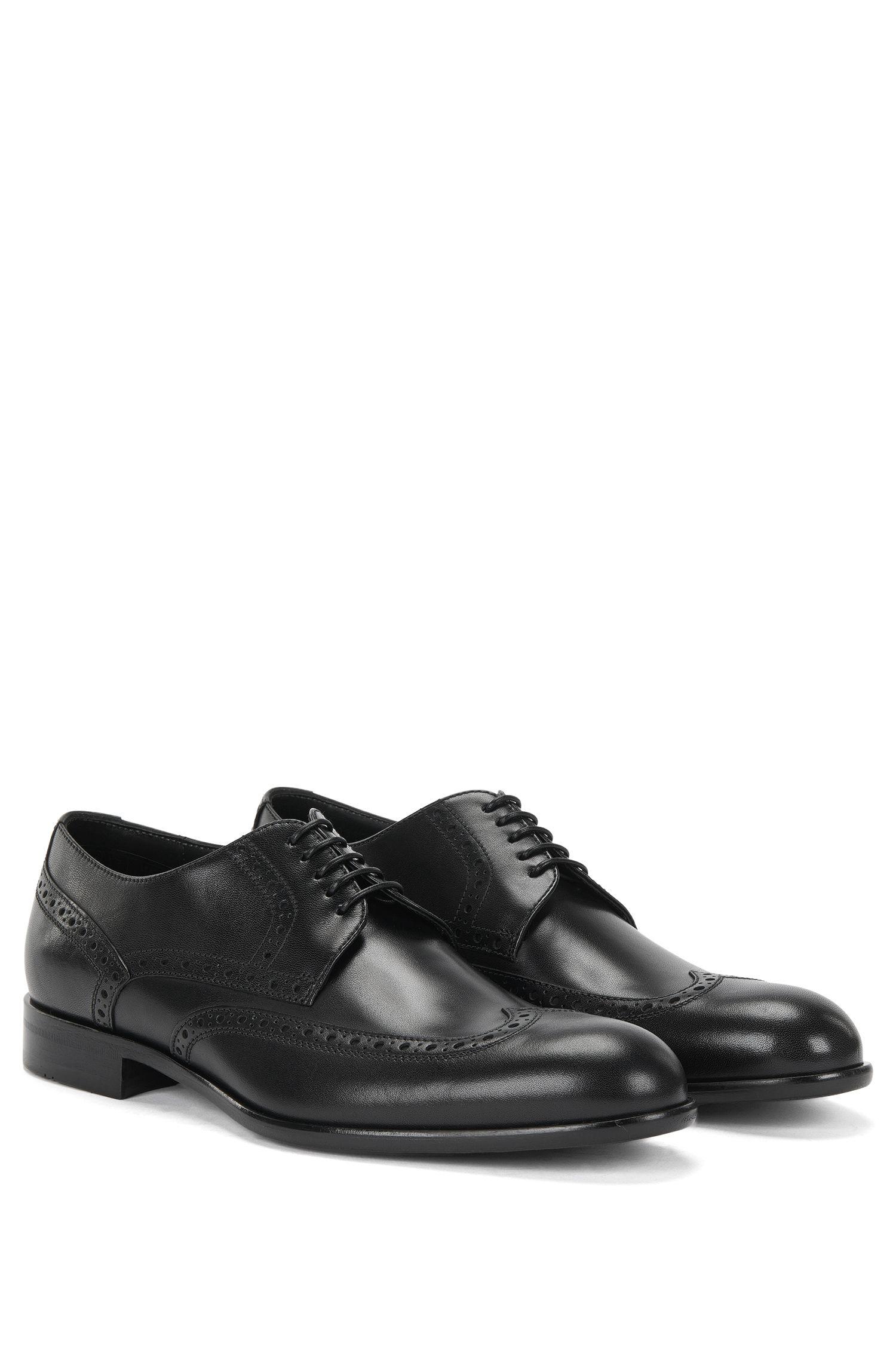 'Manperd' | Italian Calfskin Wingtip Derby Dress Shoes