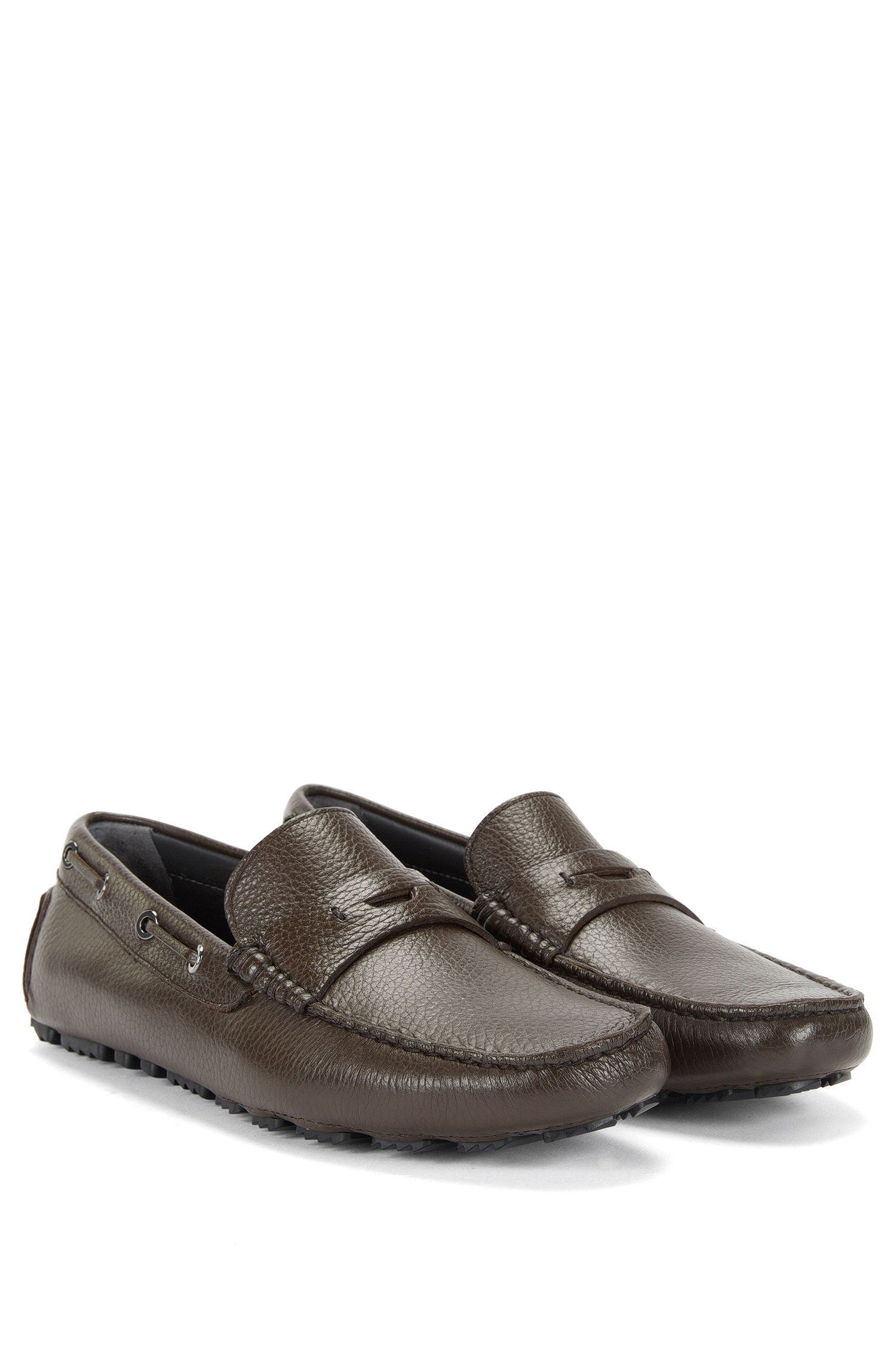 'Drilleo' | Calfskin Grained Driving Moccasin