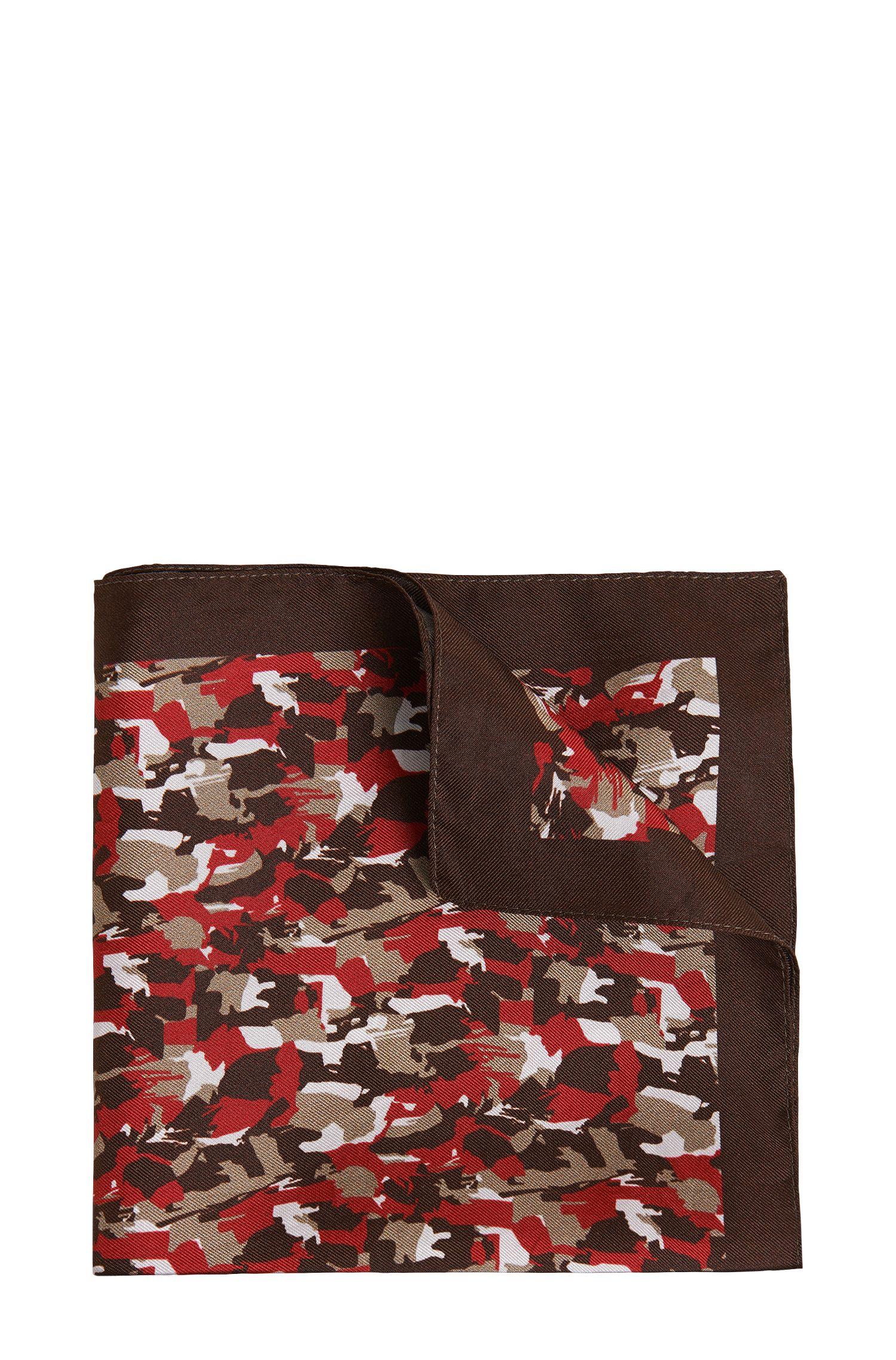 'Pocket Square 33 x 33' | Silk Patterned Pocket Square
