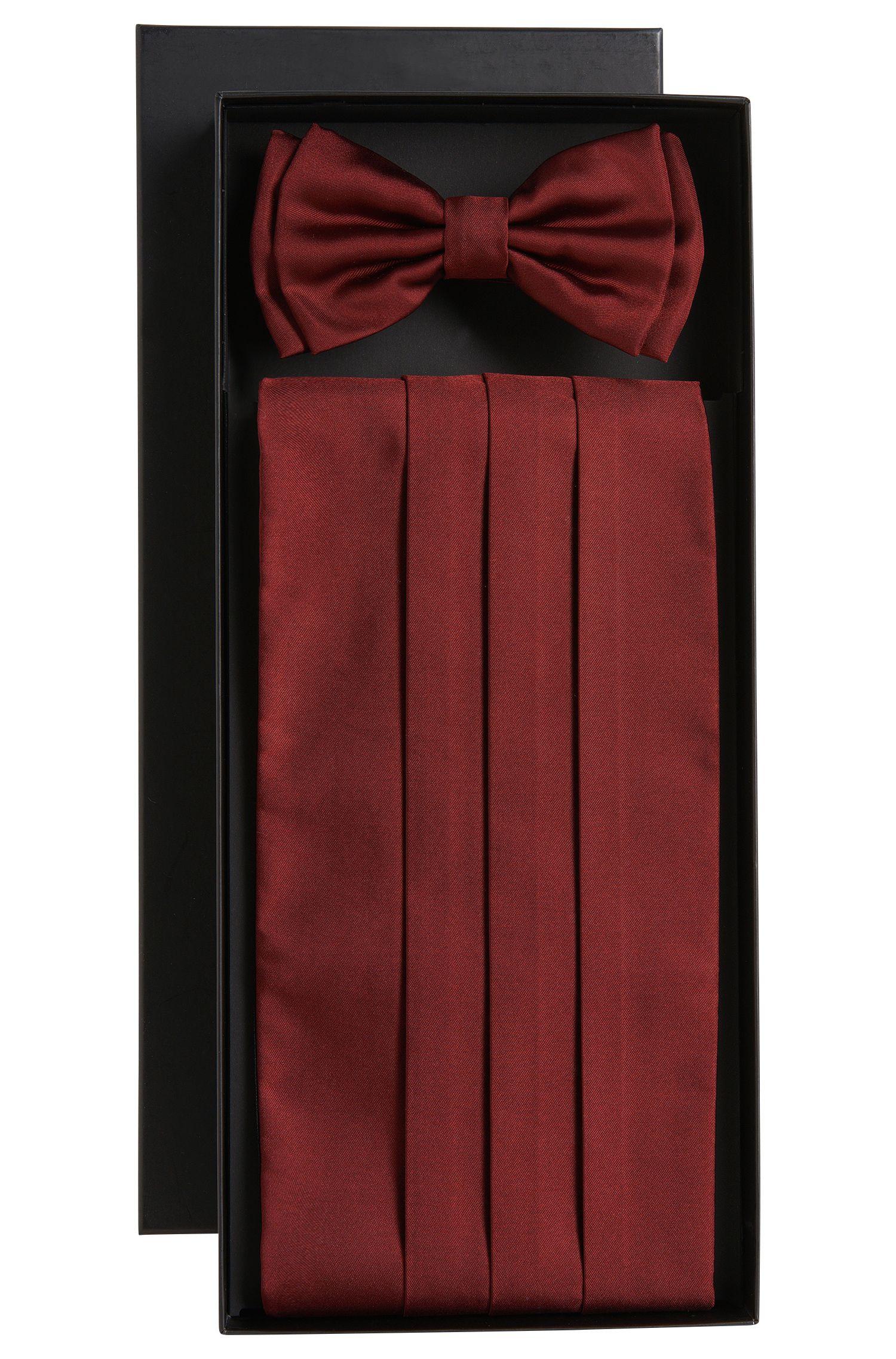 'Set bow tie+cumm'   Silk Bow Tie Cummberbund Set