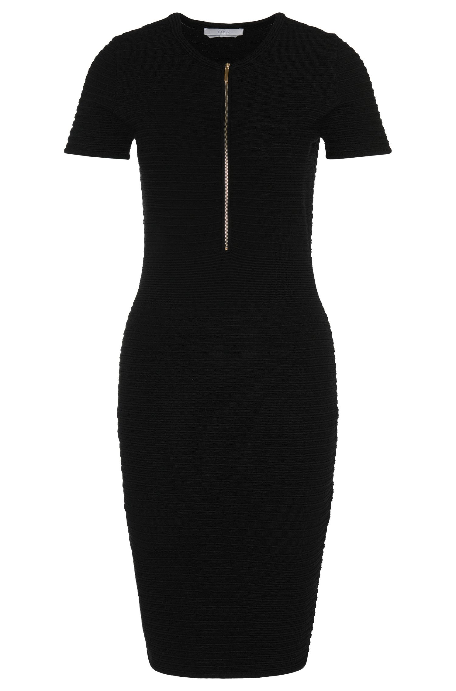'Feria' | Viscose Ribbed Circle Sheath Dress