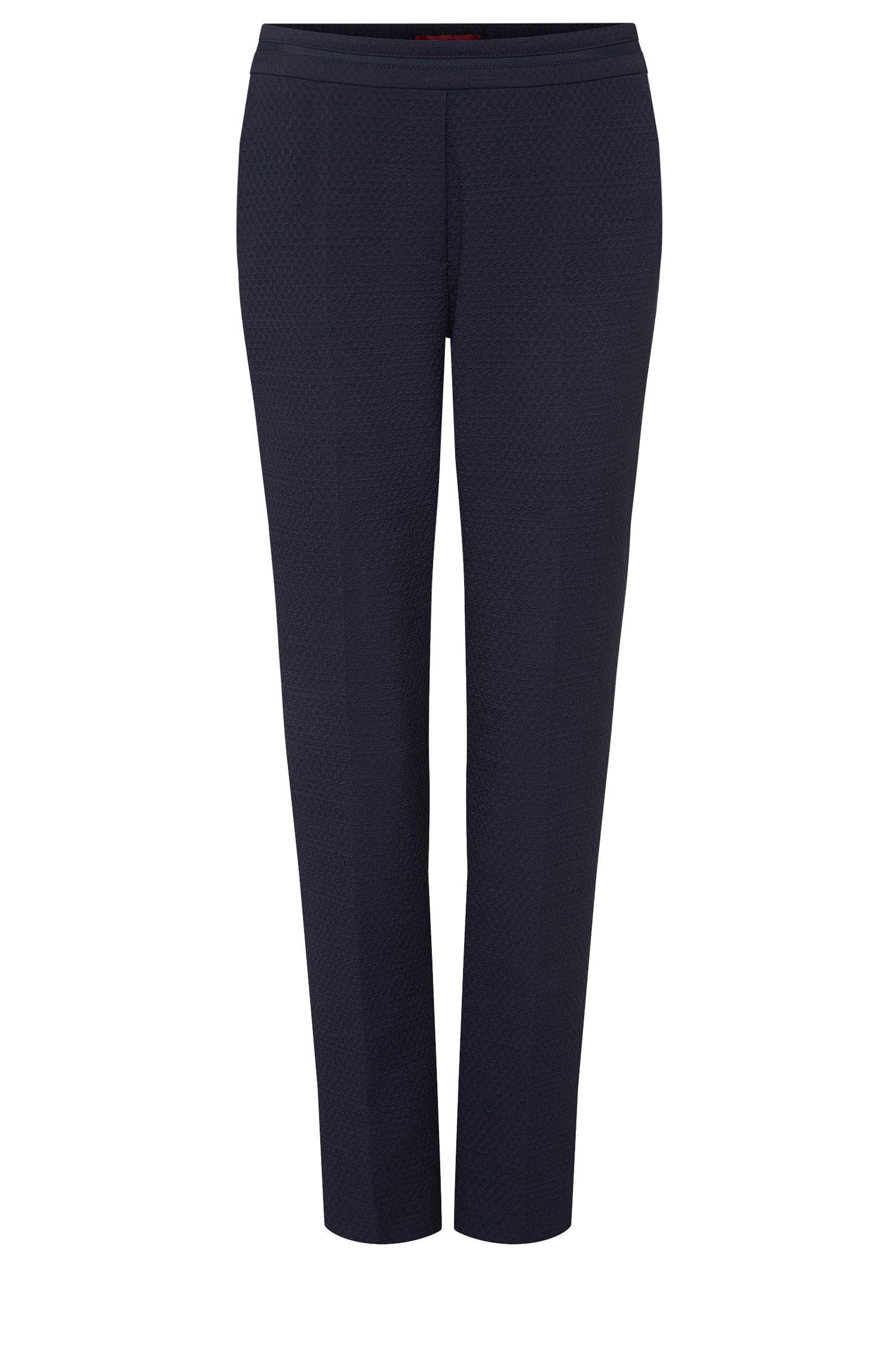'Himonis' | Stretch Cotton Blend Jacquard Trousers