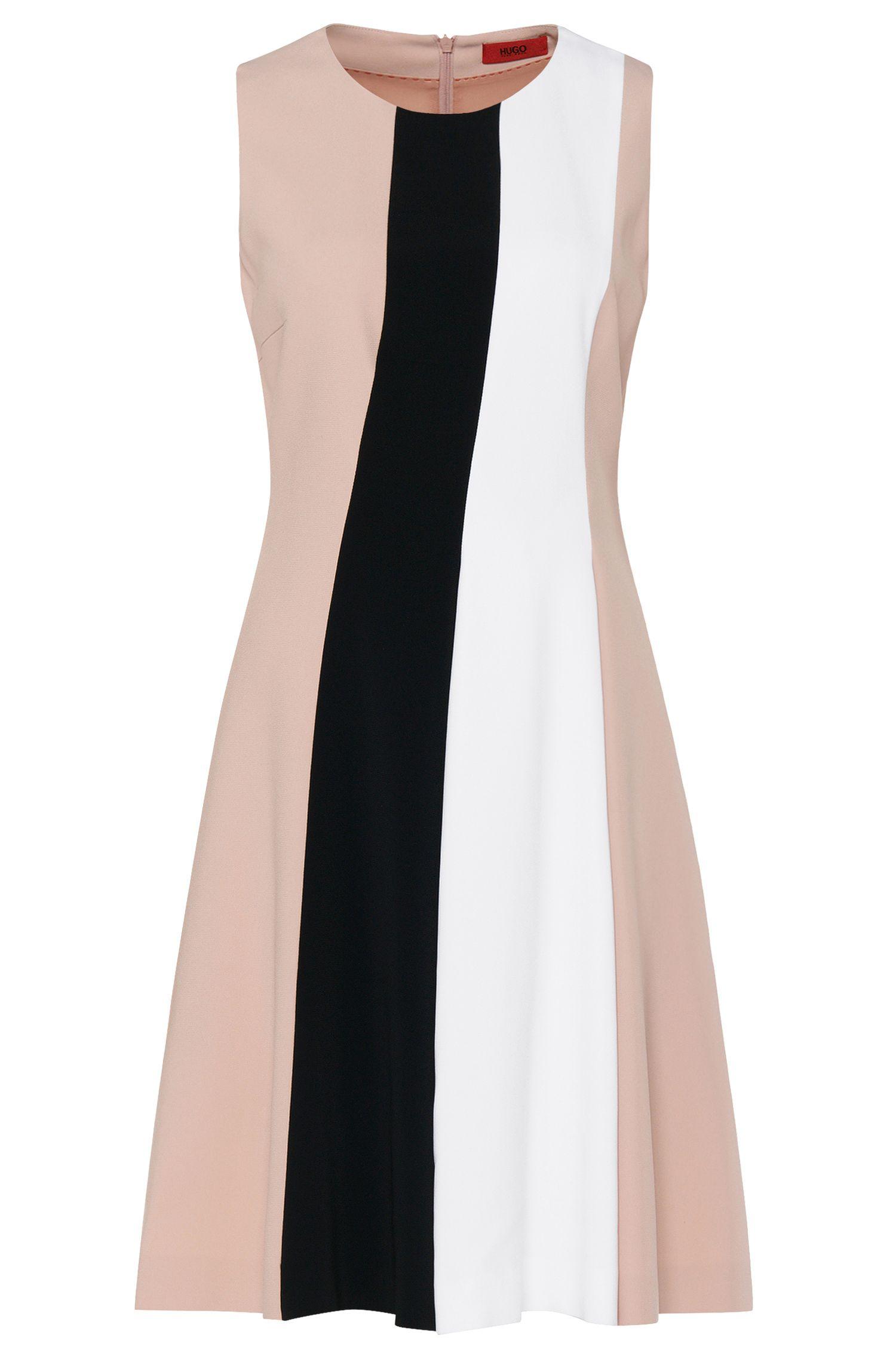 'Kilata' | Stretch Viscose Colorblock Dress
