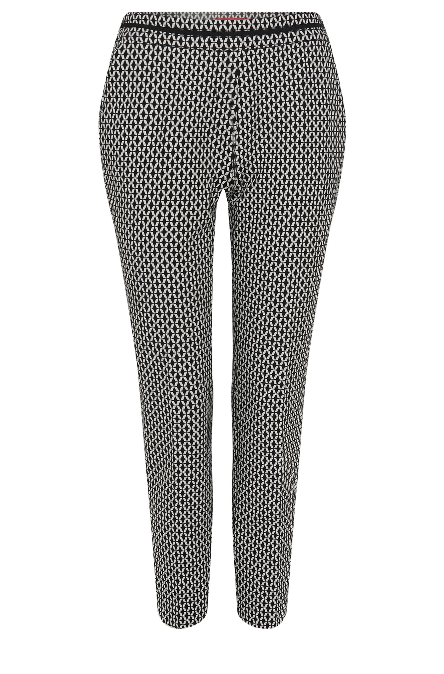 'Himonis' | Cotton Blend Hexagon Print Trousers