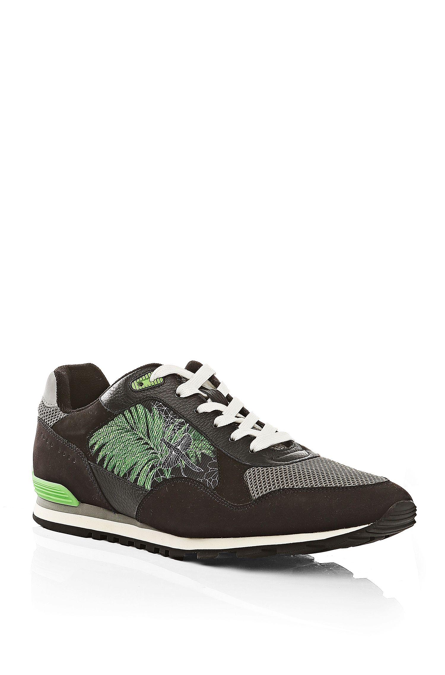 'Runcool Botanic' | Calfskin Botanical Sneakers