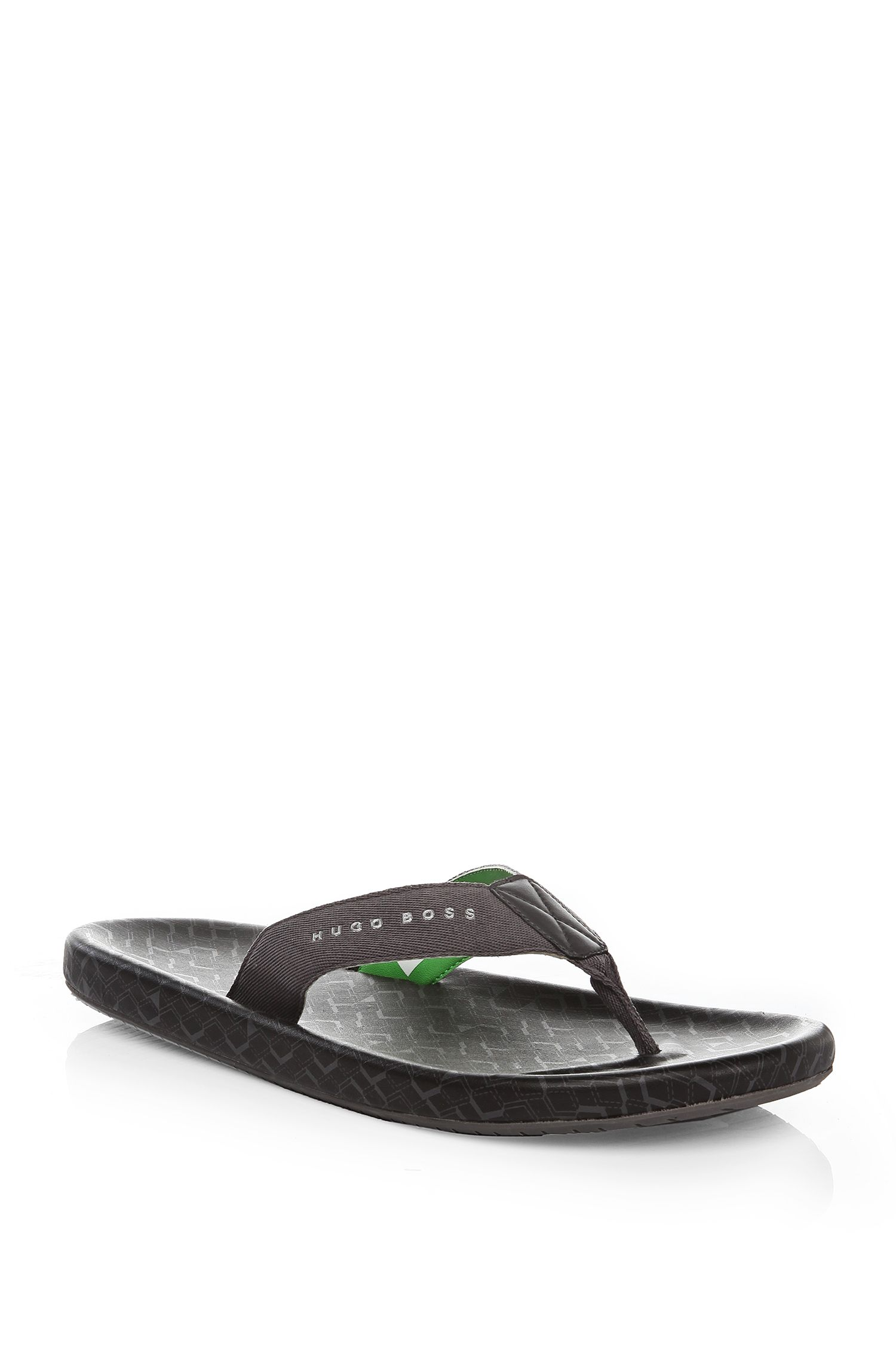 'Shoreline Sunshine' | Cotton, Rubber Flip Flops