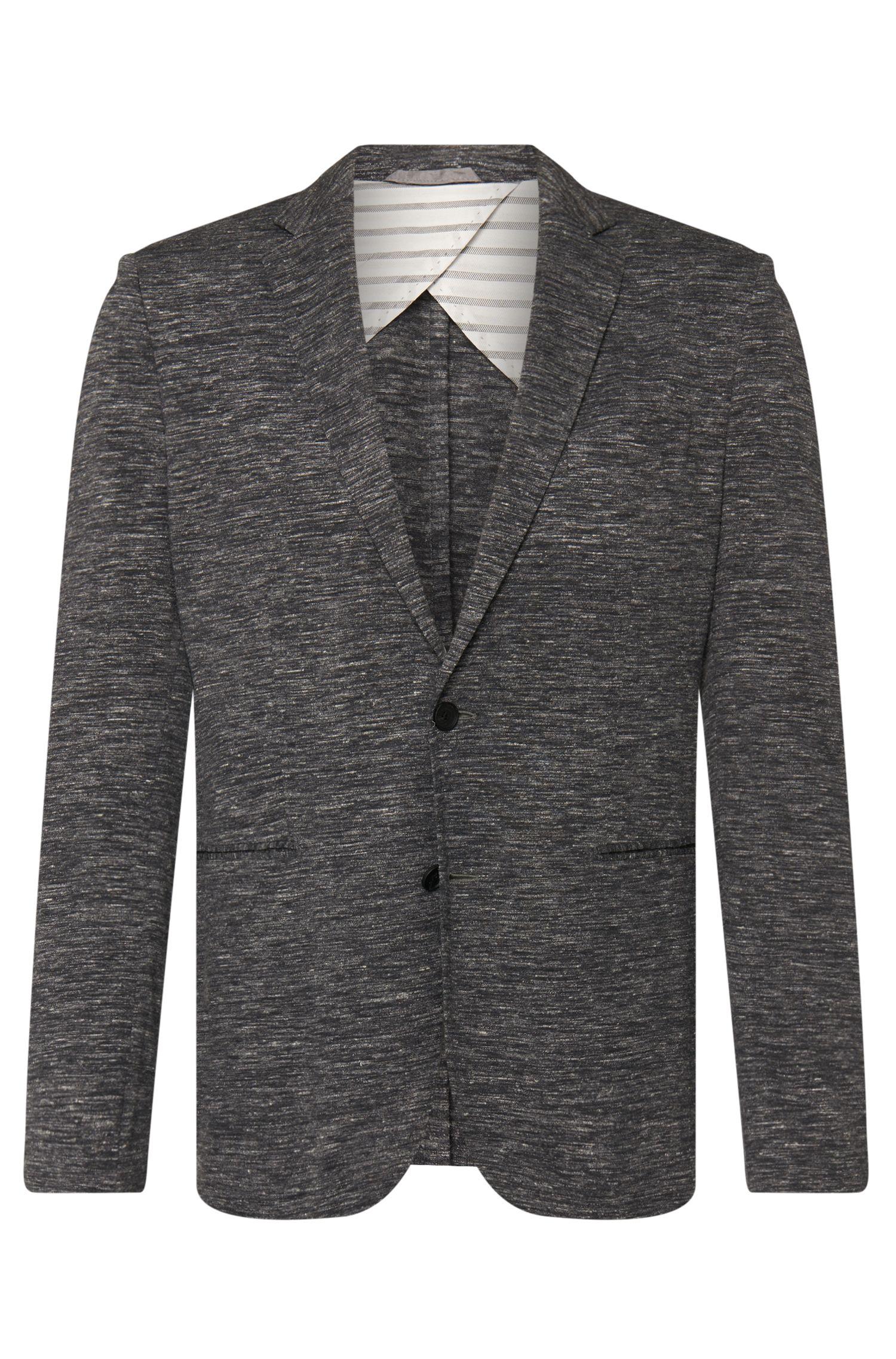 'Norwin'   Slim Fit, Linen Virgin Wool Jersey Sport Coat