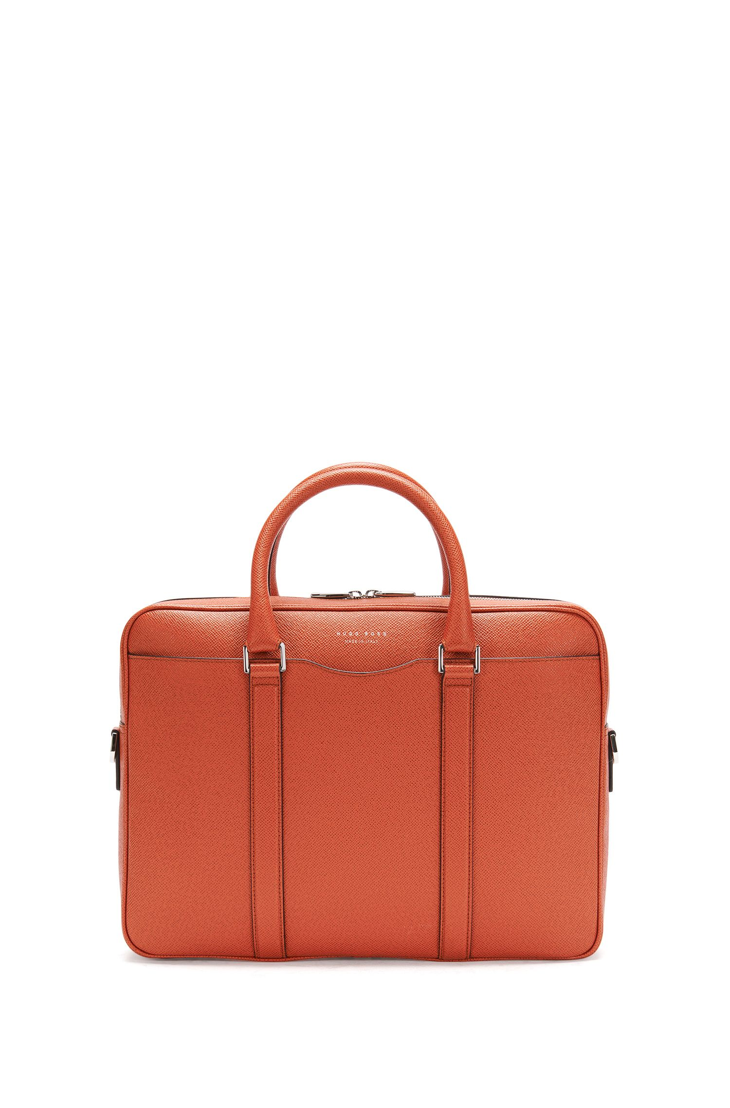 'Signature S Doc'   Italian Calfskin Workbag, Detachable Shoulder Strap