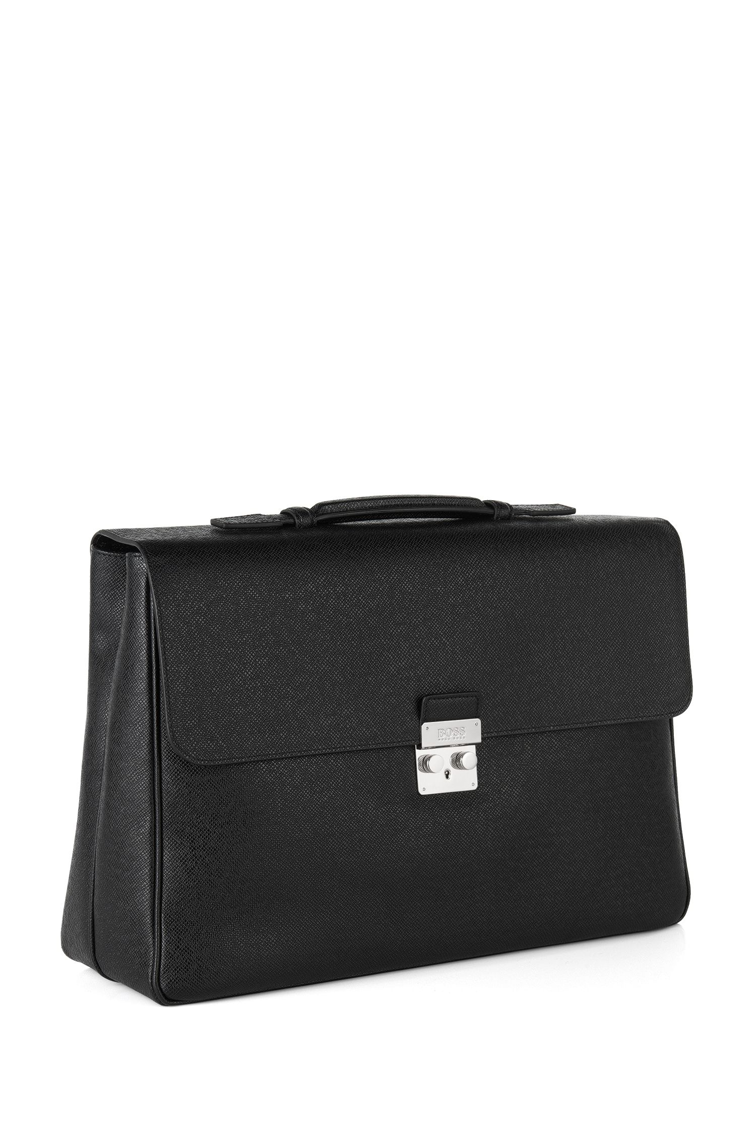 'Signature Briefcase' | Calfskin Attache Trolley Bag