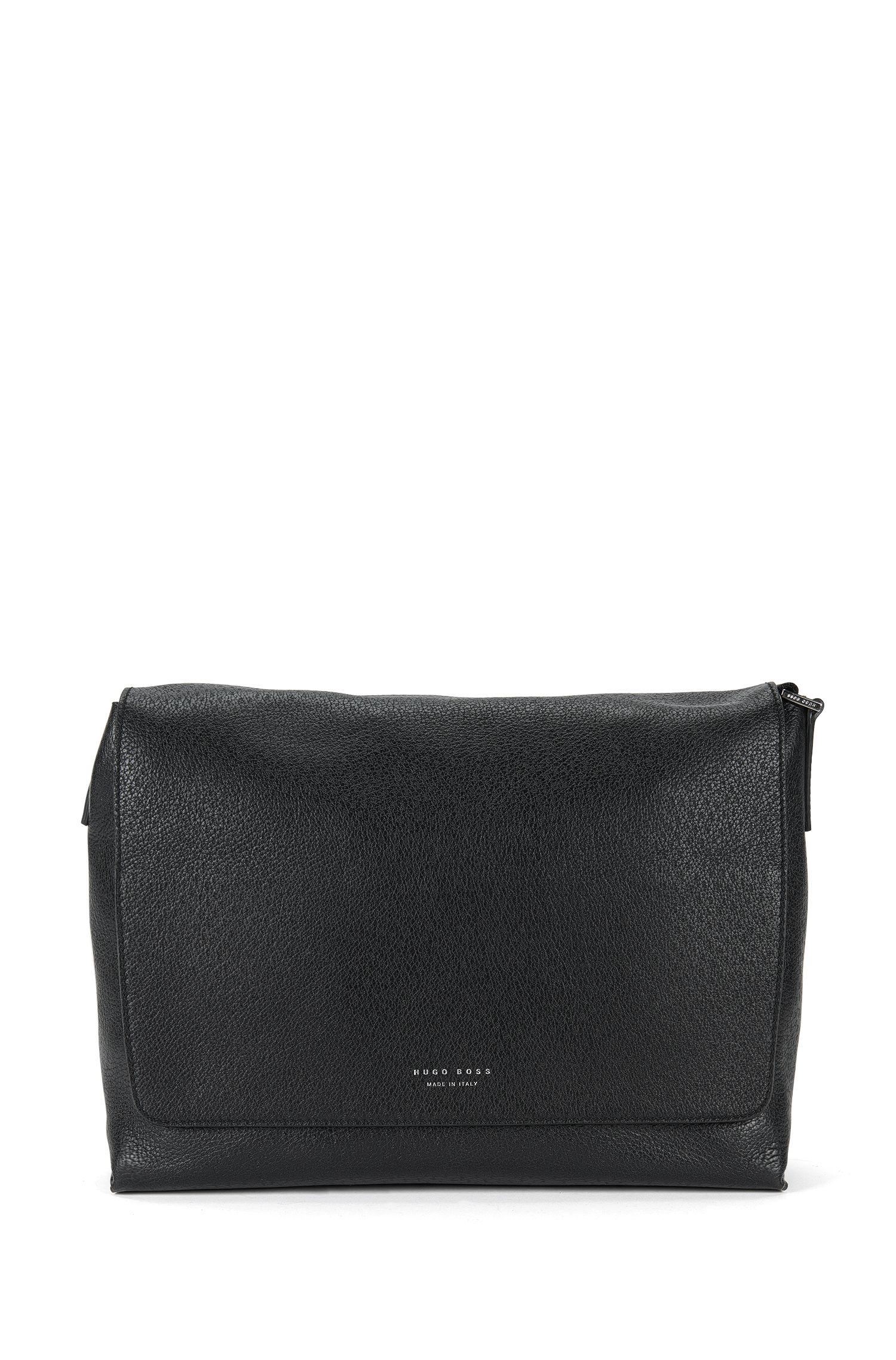 'S Pecary Mess Flap' | Leather Messenger Bag, Shoulder Strap