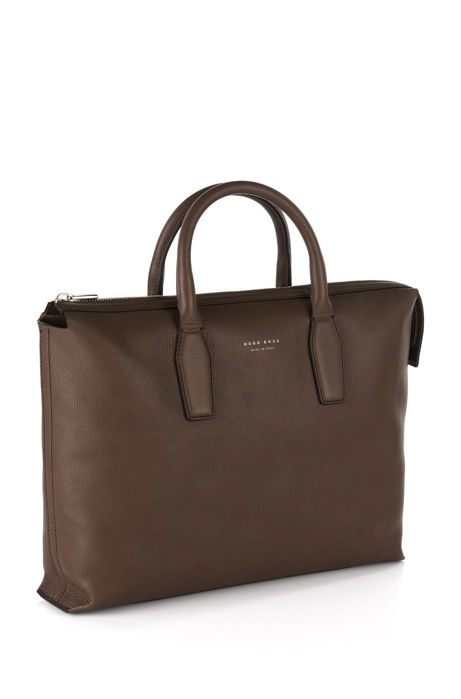 'Softy S Doc' | Italian Leather Work Bag