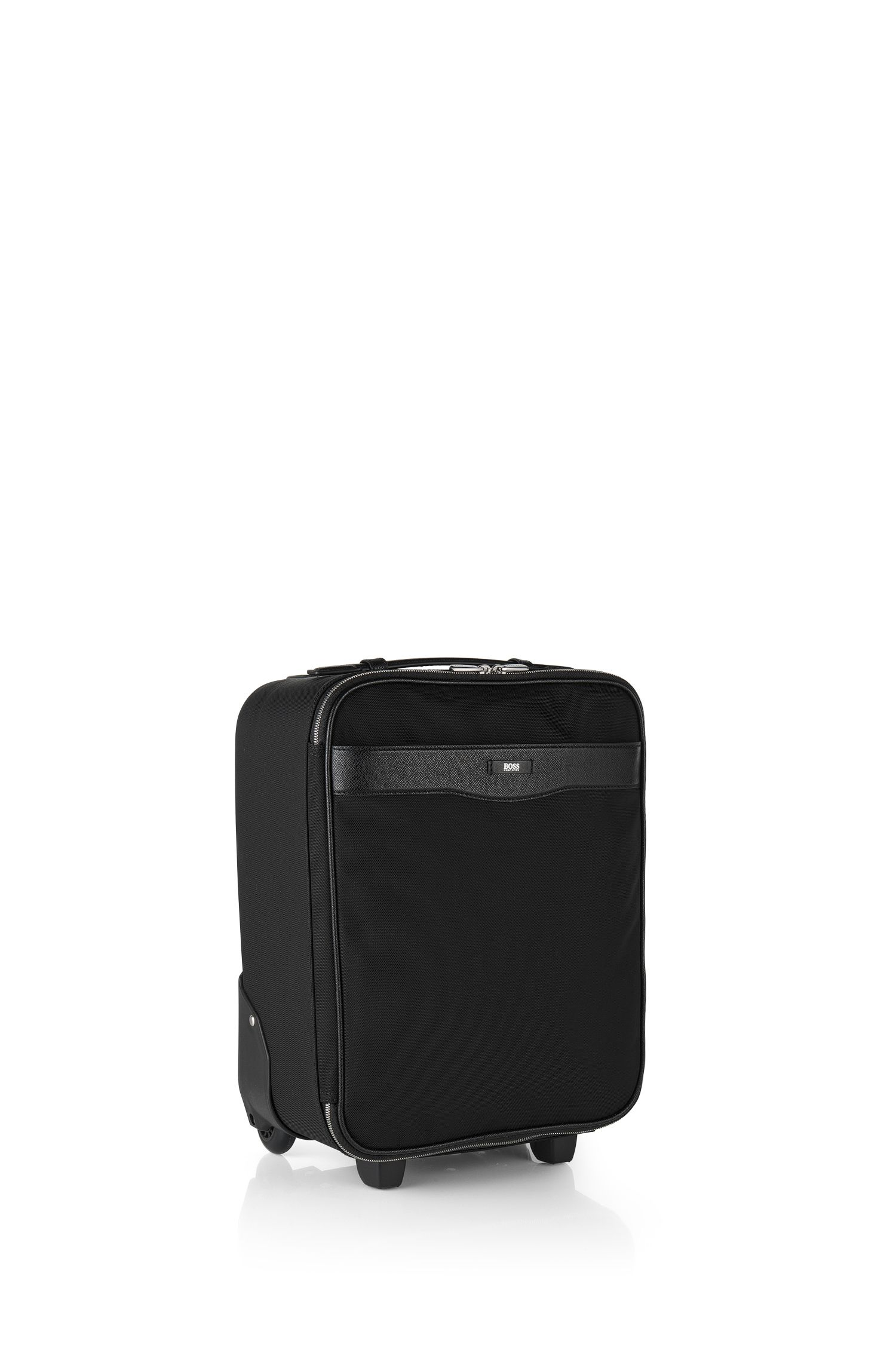 'Signature L_Trolley' | Nylon Leather Wheeled Carry-on