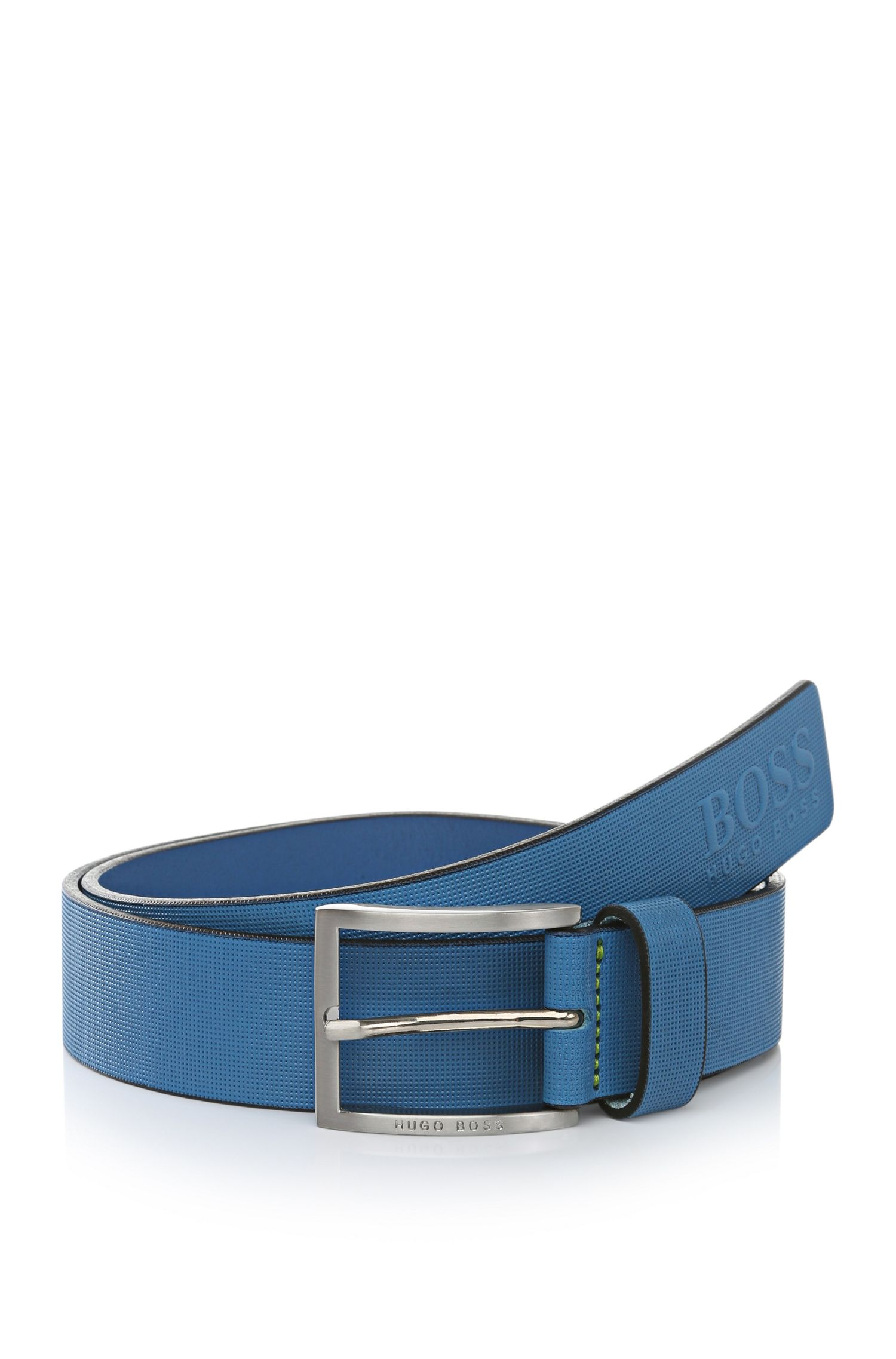 'Tienzo' | Textured Leather Belt