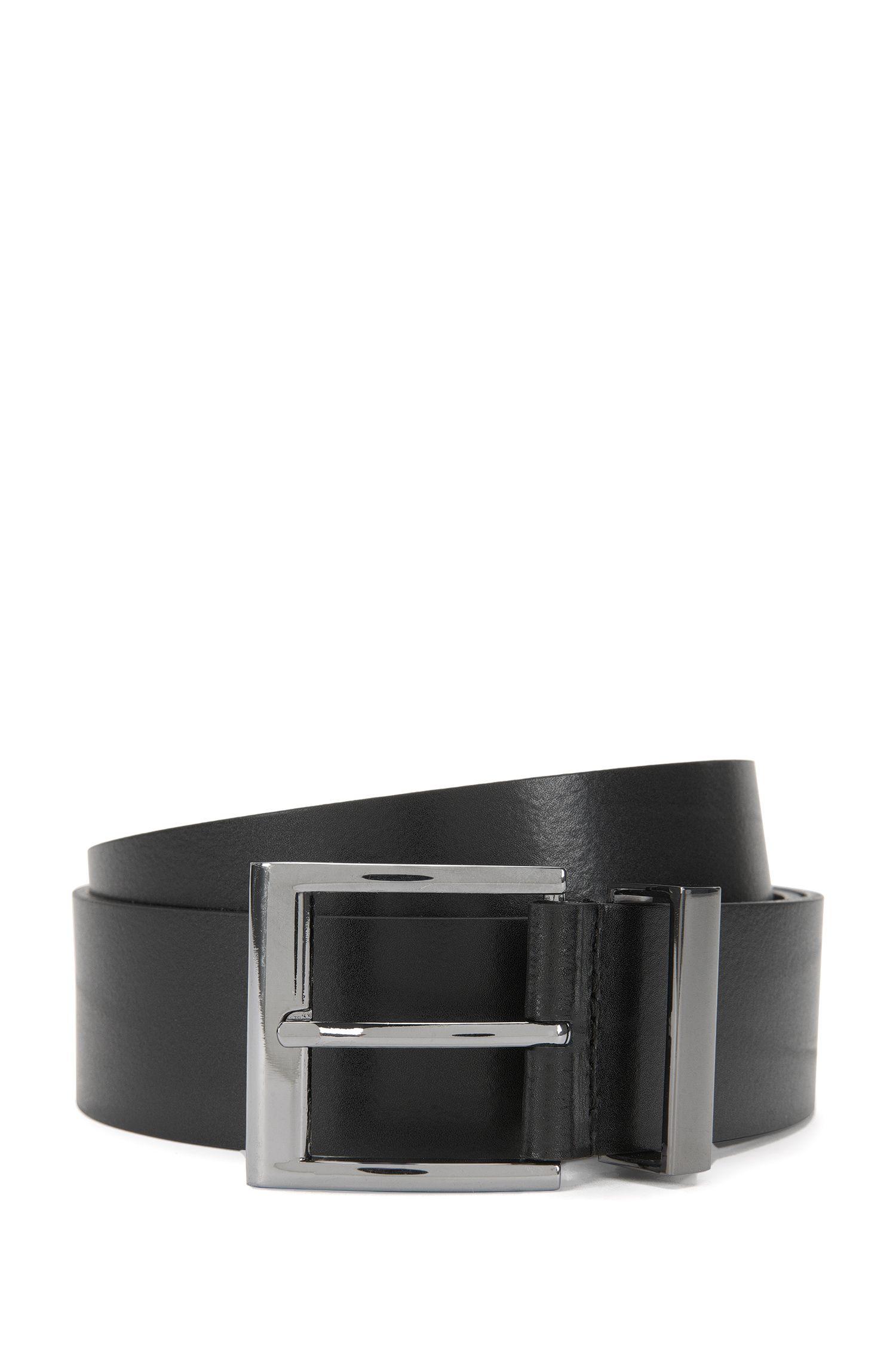 'Gibud' | Leather Logo Tip Belt