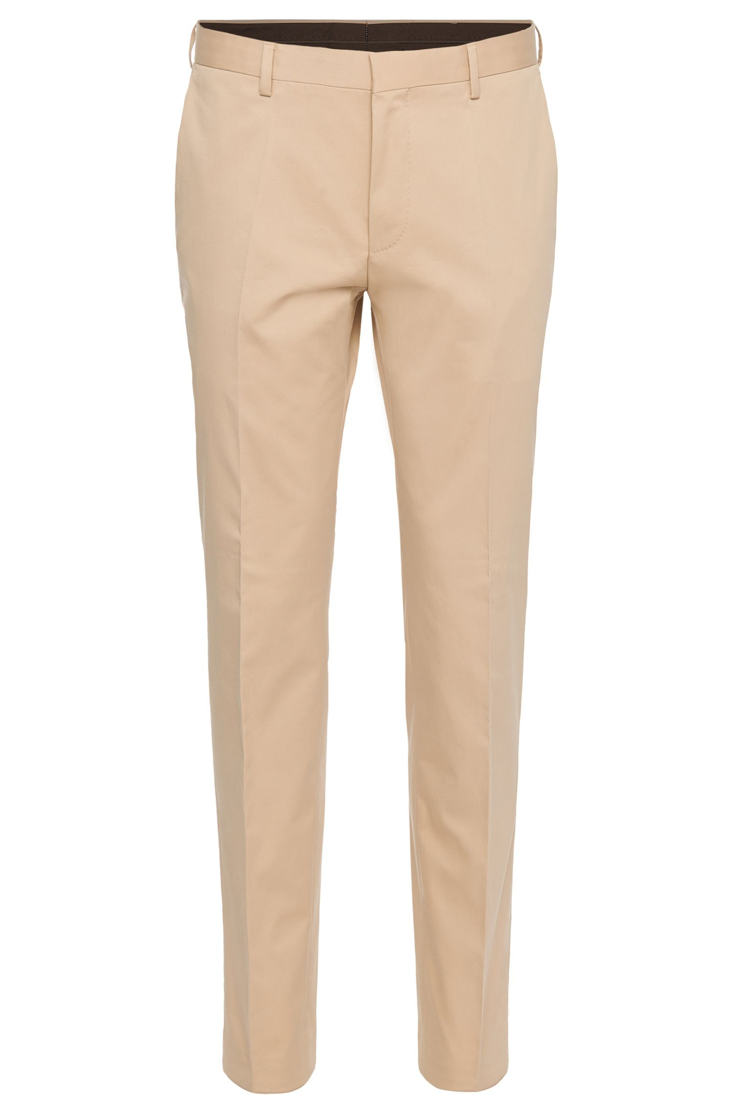 'Gibson_Cyl' | Slim fit, Stretch Cotton Dress Pants