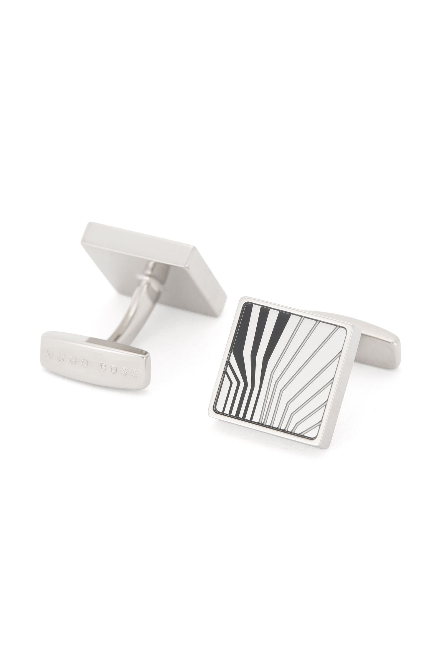 'Jul' | Brass Etched Cufflinks