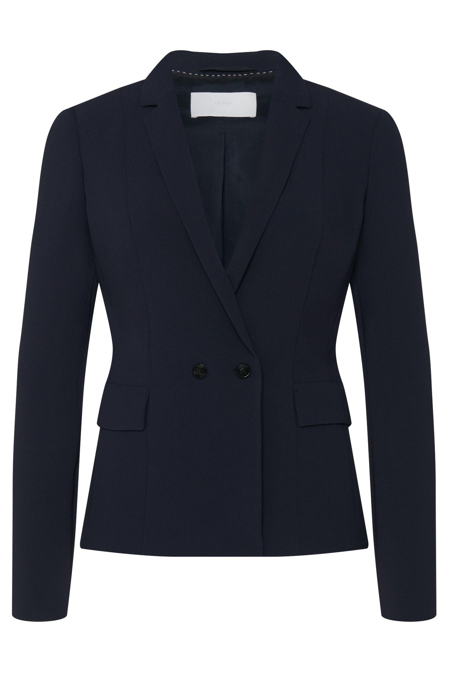 'Jutana'   Crepe Double Button Jacket