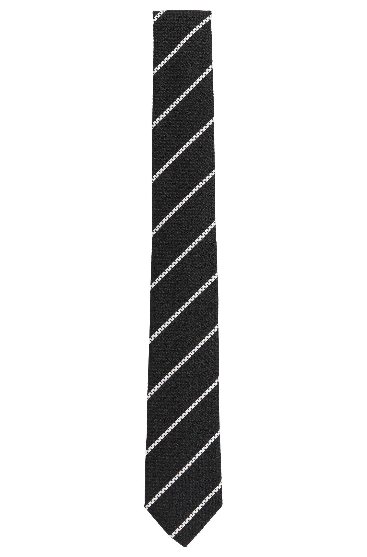 'Tie 6 cm' | Slim, Silk Stripe Tie