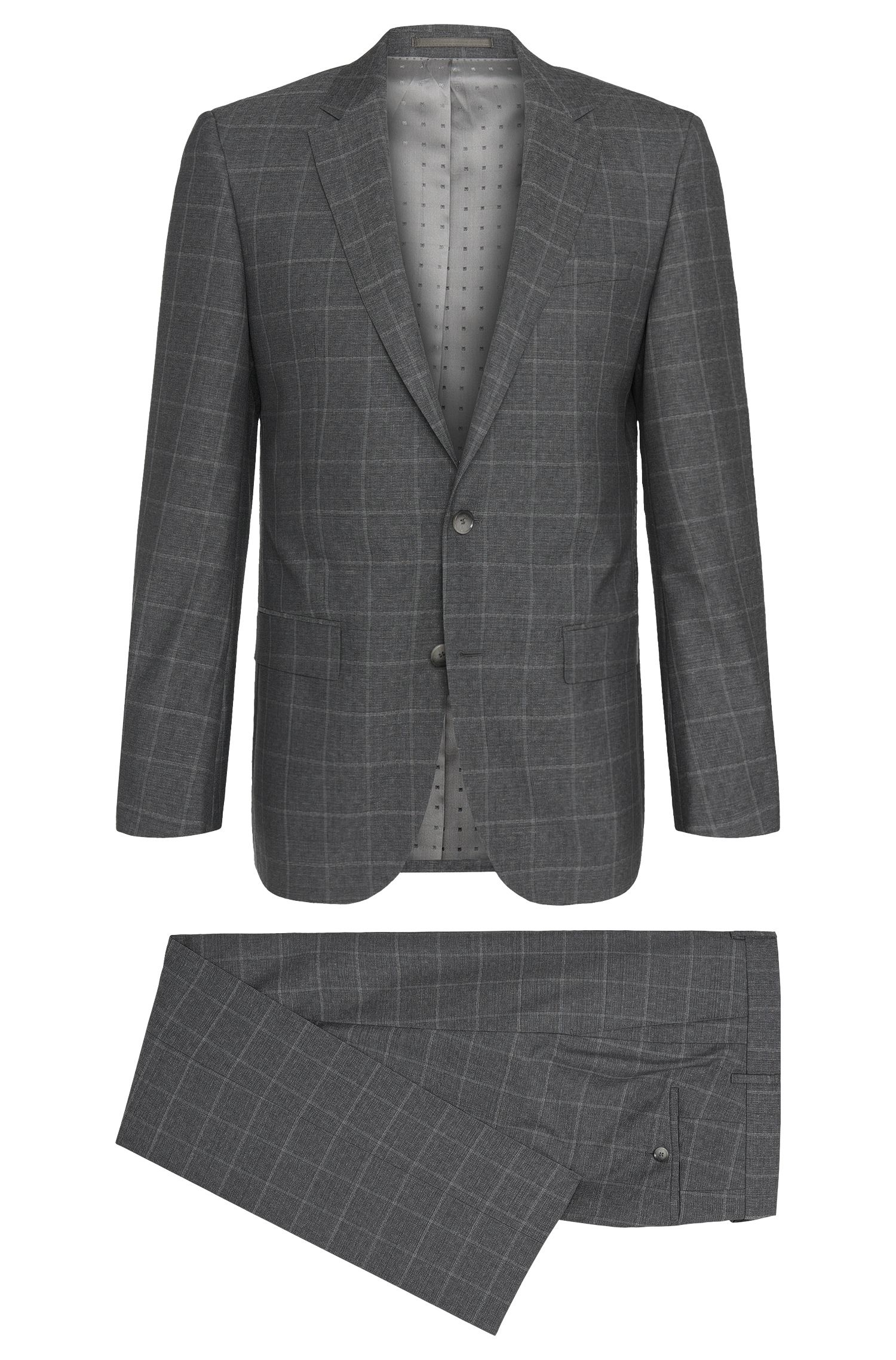 'T-Harvers/Glover' | Slim Fit, Italian Virgin Wool Suit