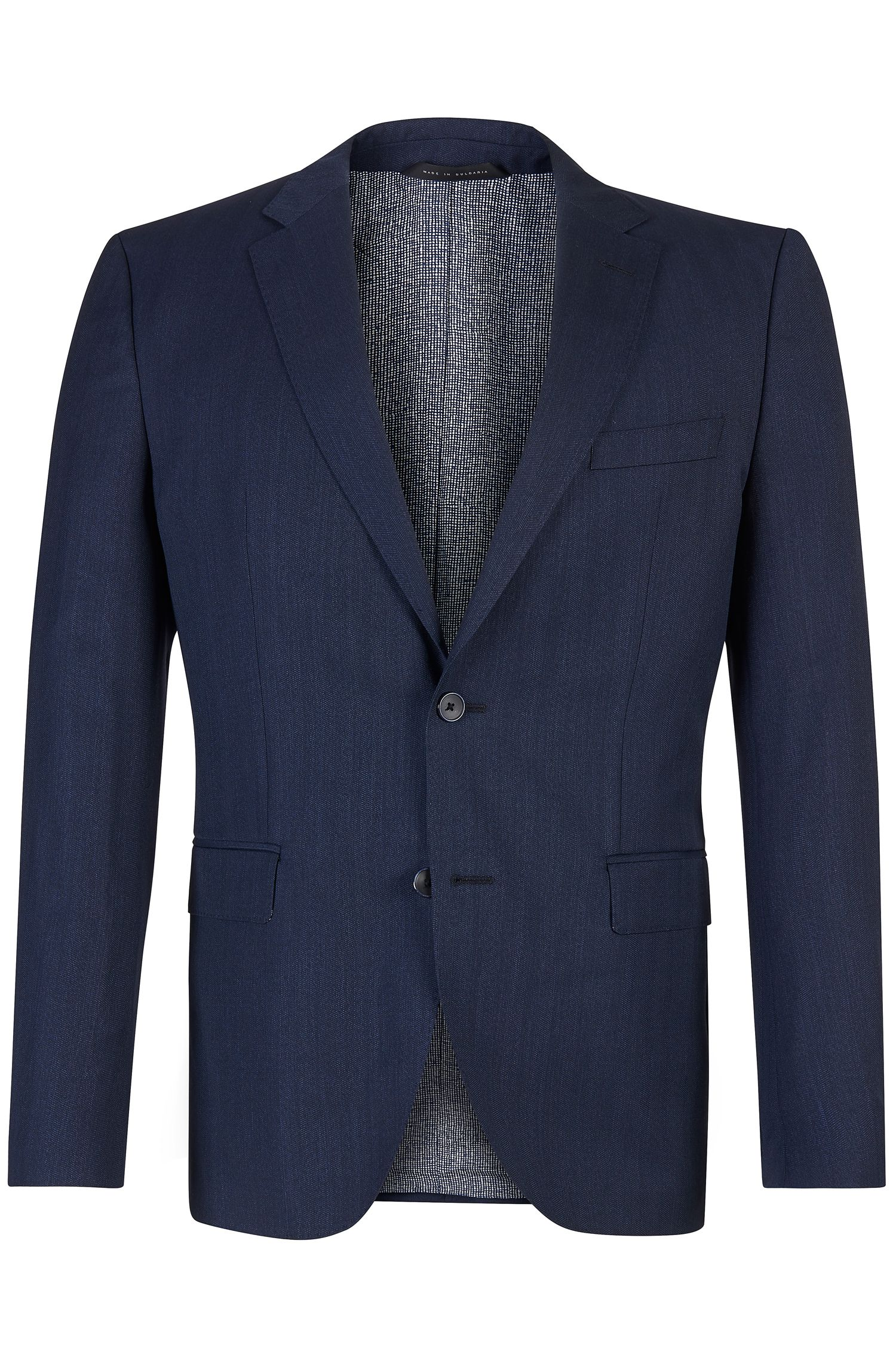 'Jewels' | Regular Fit, Italian Wool Herringbone Sport Coat