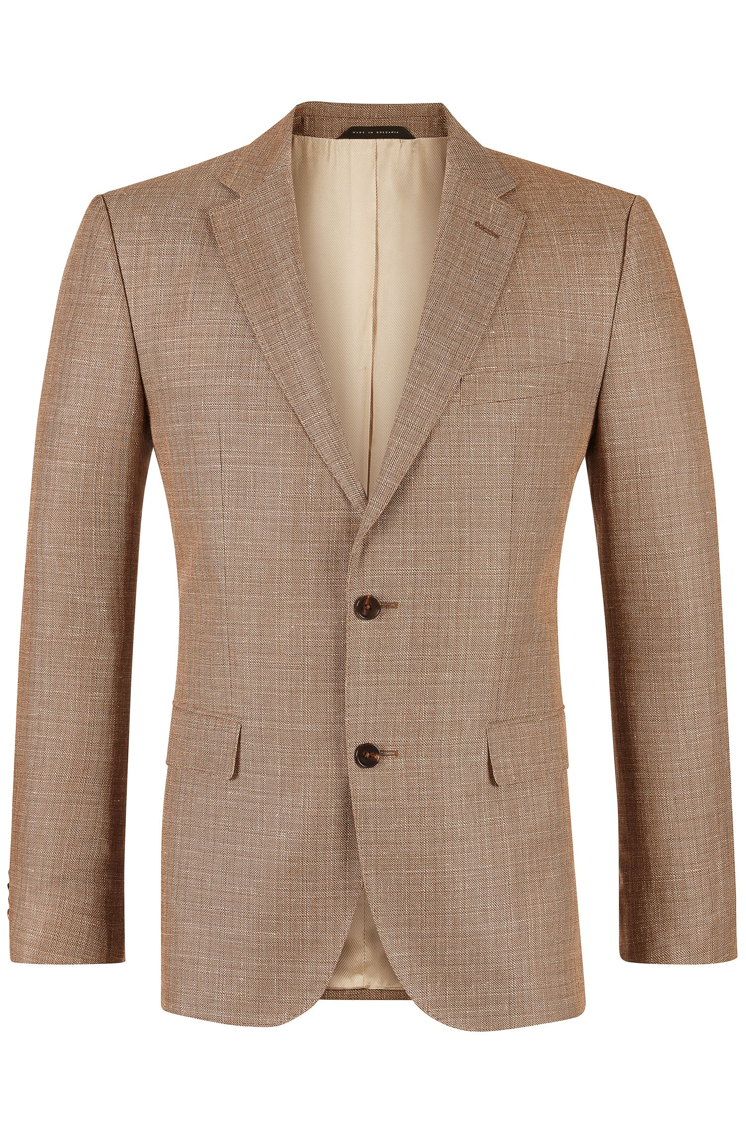 'Jayden' | Regular Fit, Italian Linen Virgin Wool Sport Coat