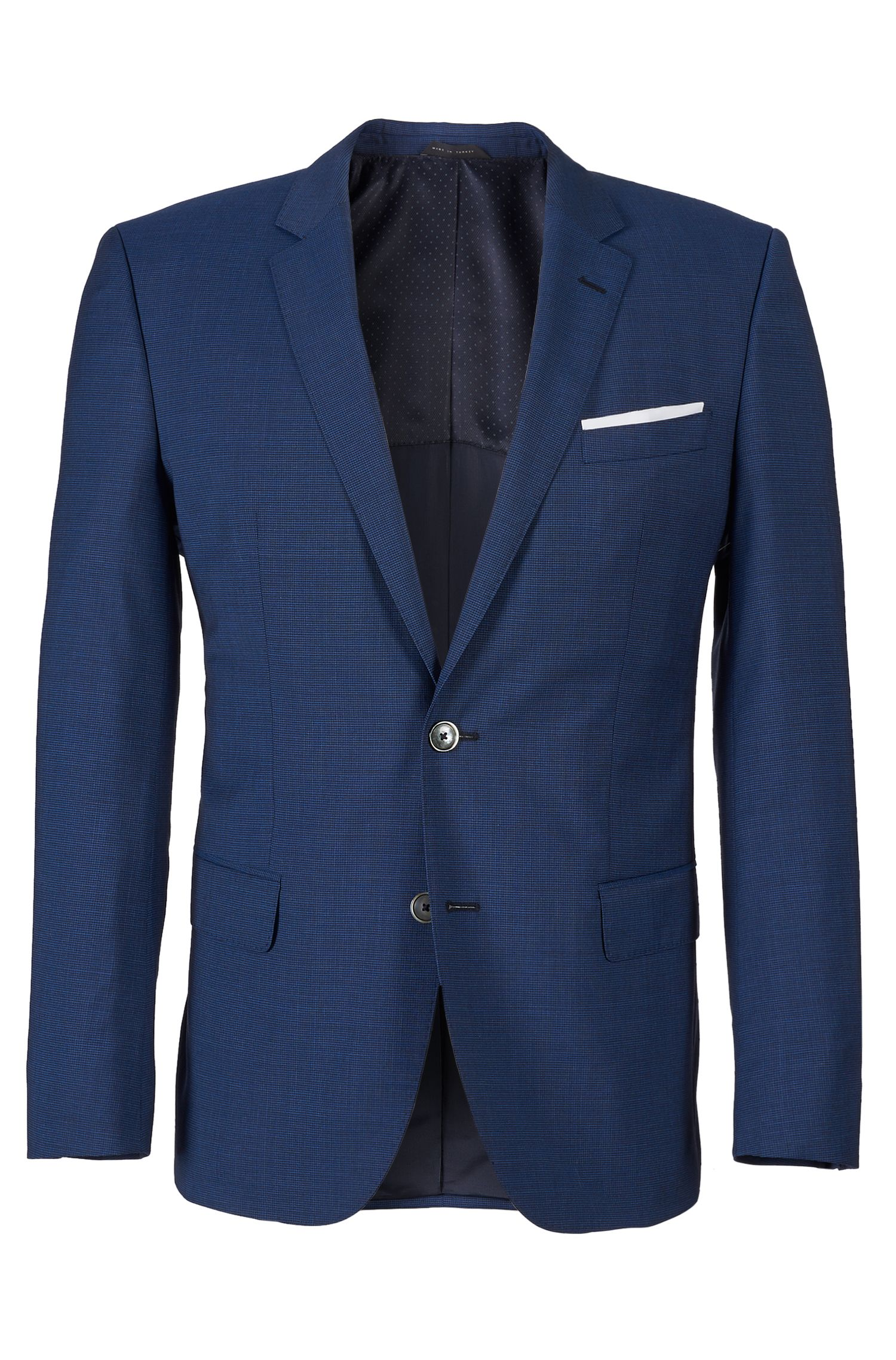 'Hutson/Gander' | Slim Fit, Super 100 Italian Virgin Wool Suit