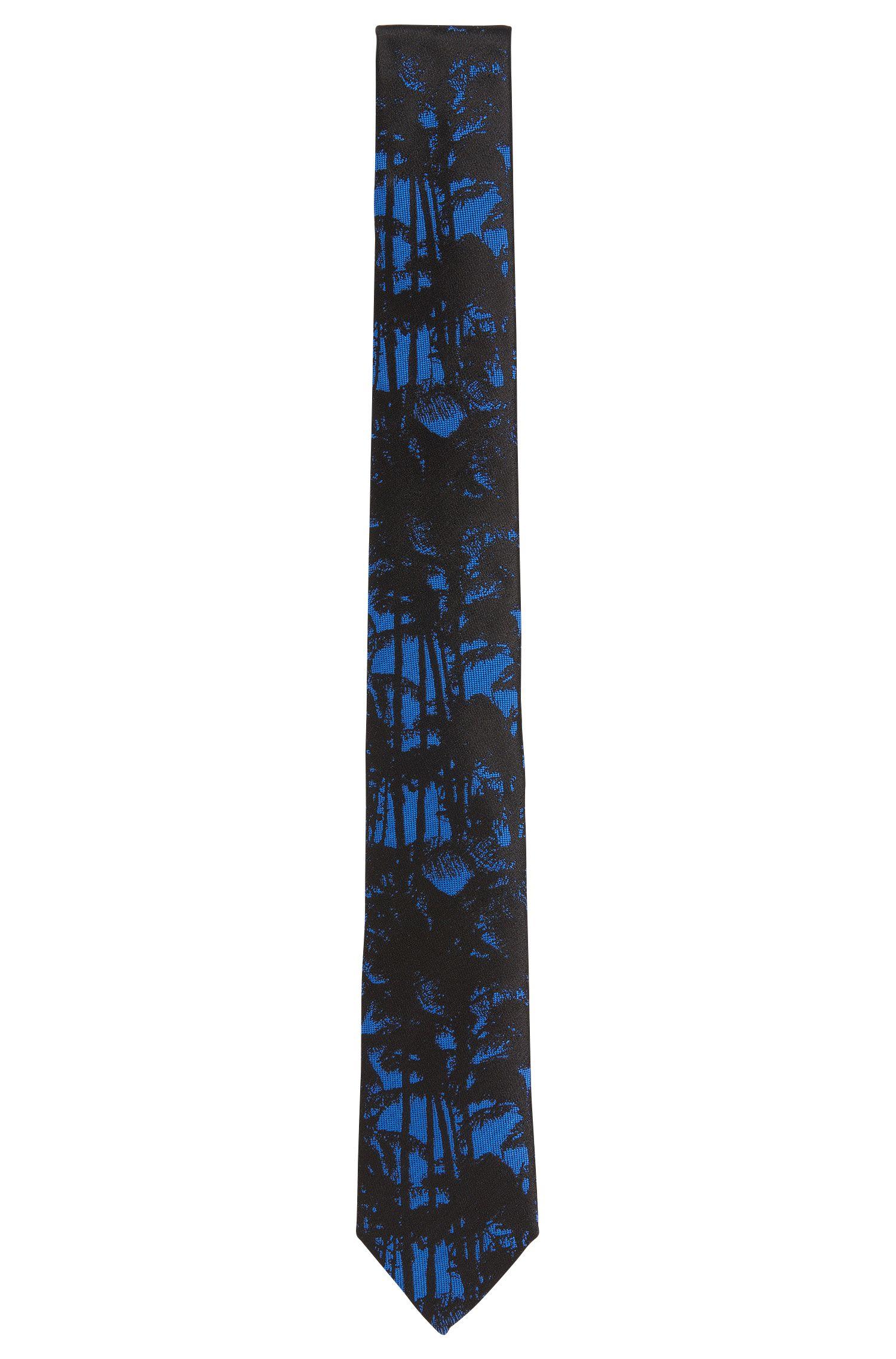 'Tie 6 cm'   Slim, Silk Palm Print Tie