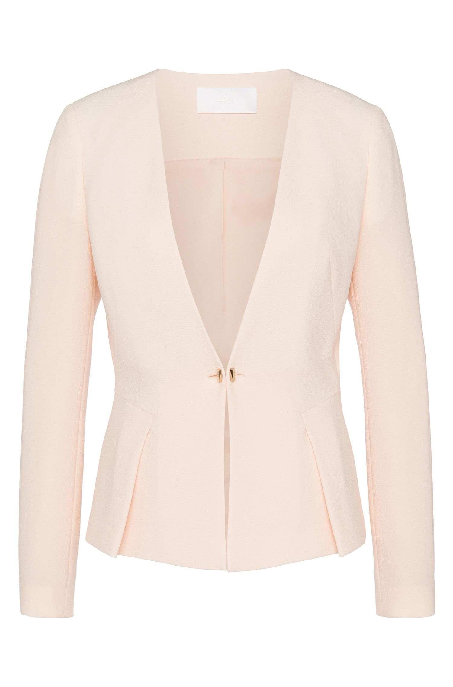 'Jaforma' | Crepe One-Button Blazer