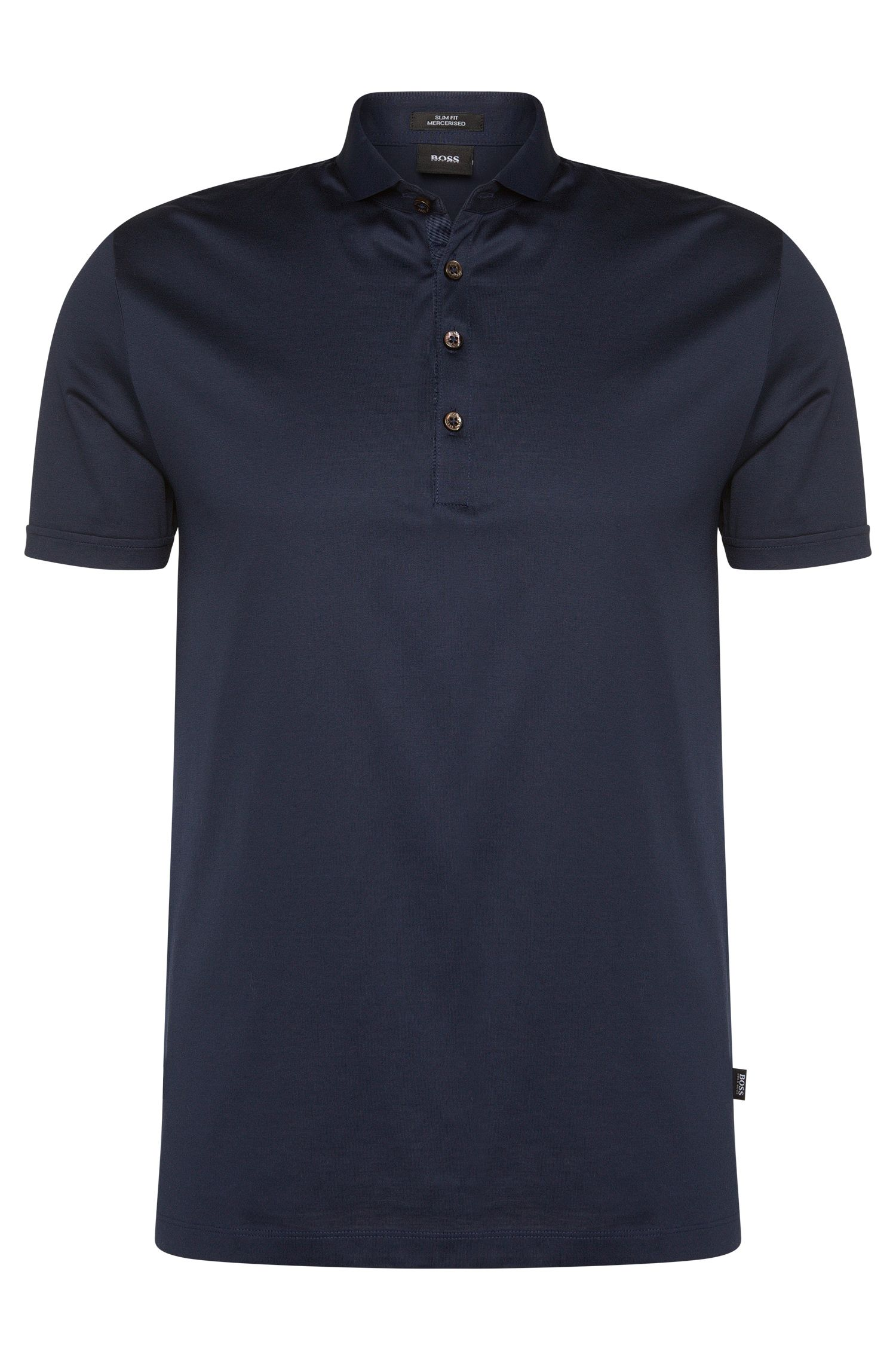 'Plummer' | Slim Fit, Mercerized Cotton Polo Shirt