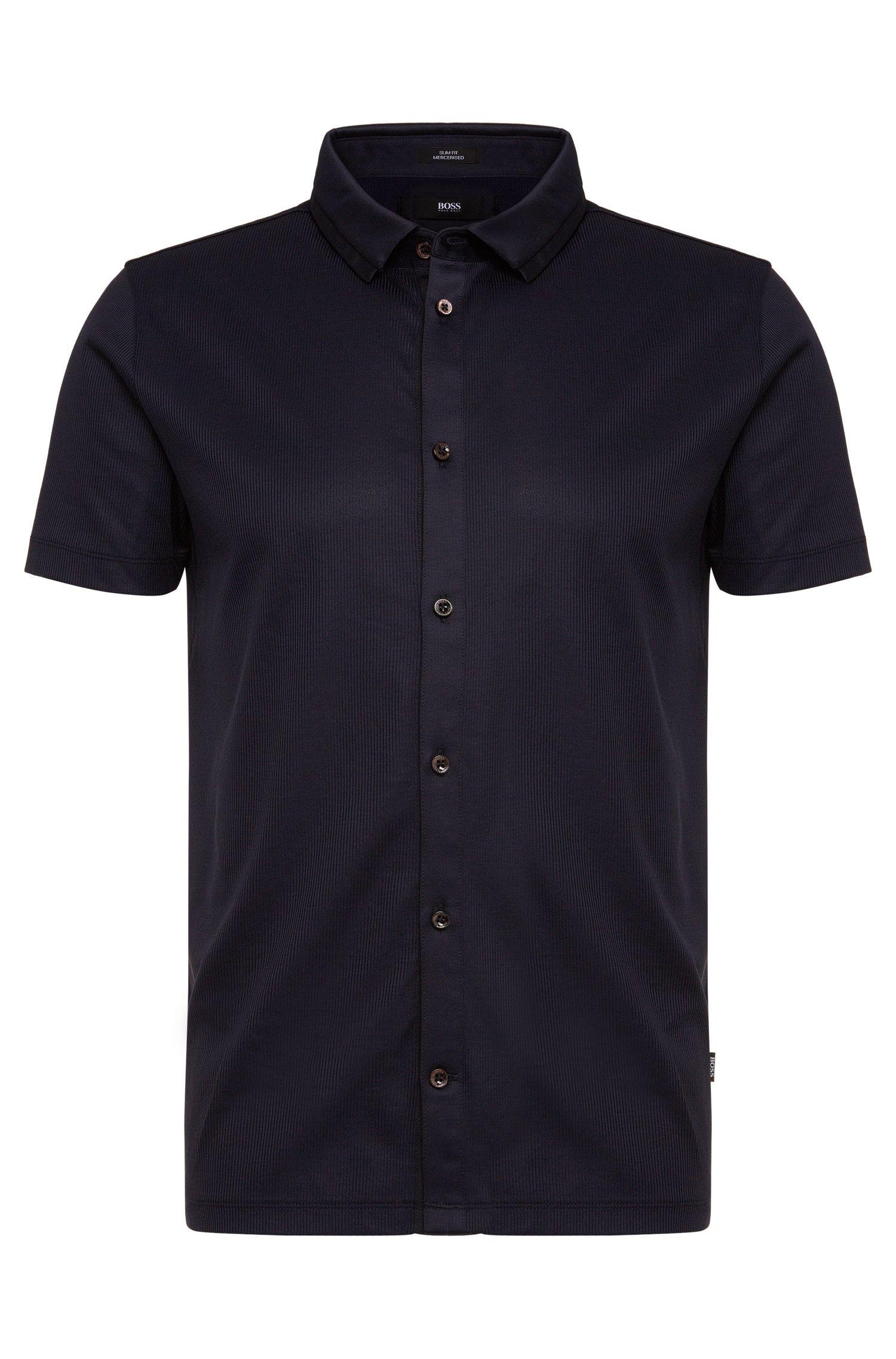 'Puno' | Slim Fit, Mercerized Cotton Button Down Polo Shirt