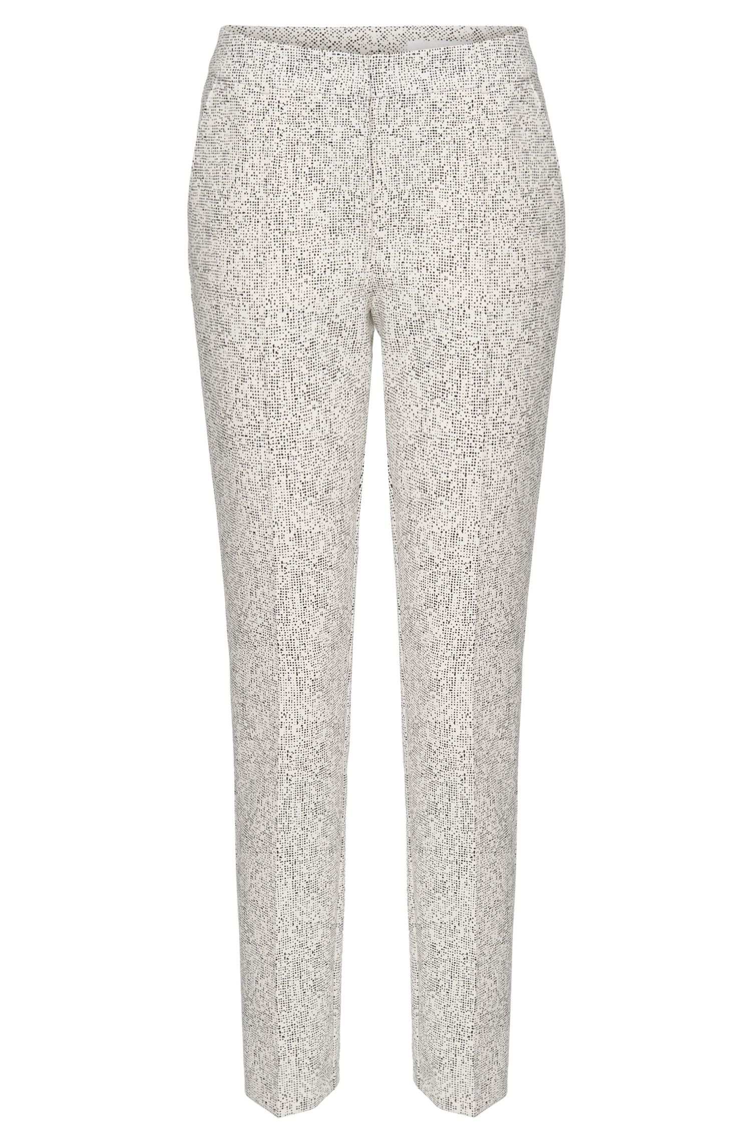 'Acnes' | Stretch Dot Print Trousers