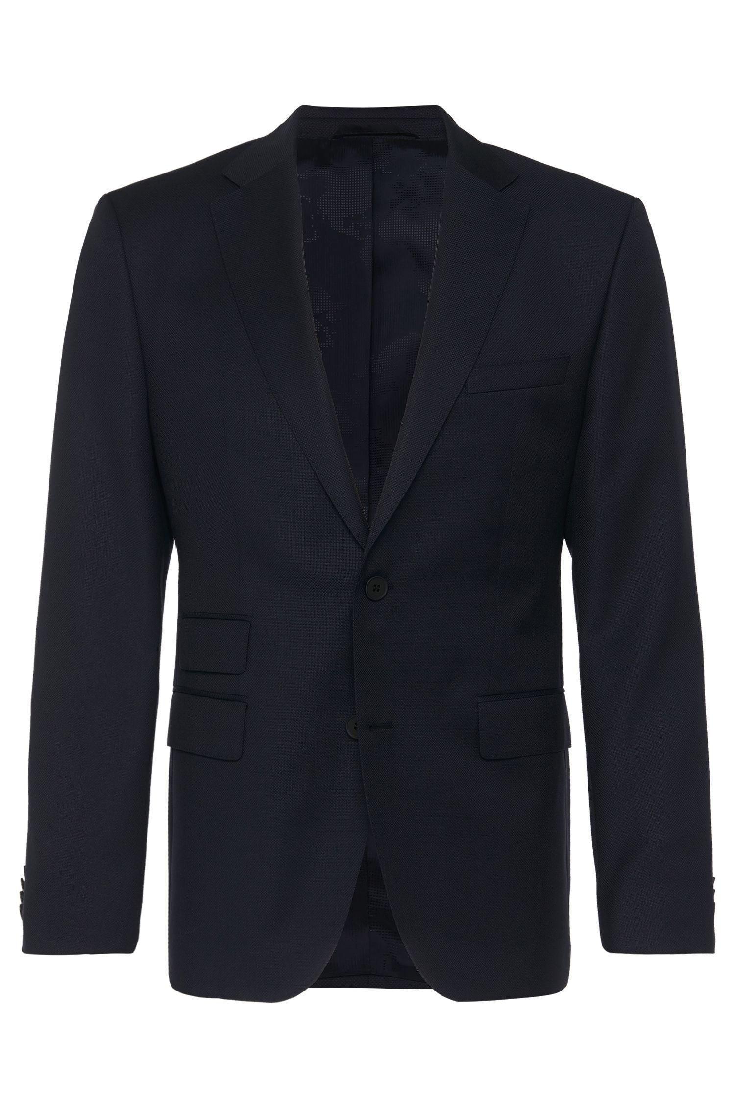 'Jet' | Regular Fit, Virgin Wool Traveler Sport Coat