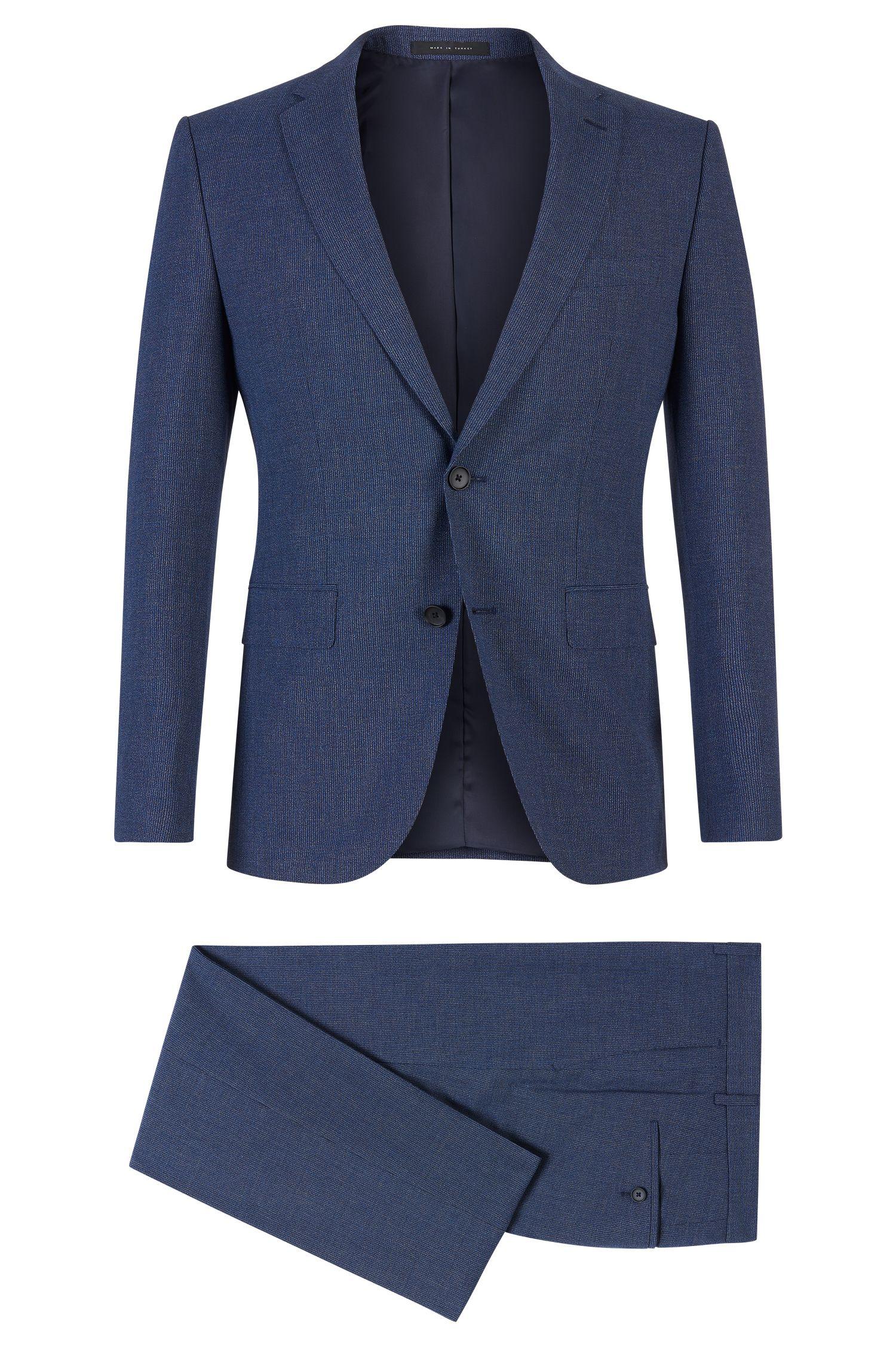 'Novan/Ben' | Slim Fit, Italian Virgin Wool Cotton Blend Suit
