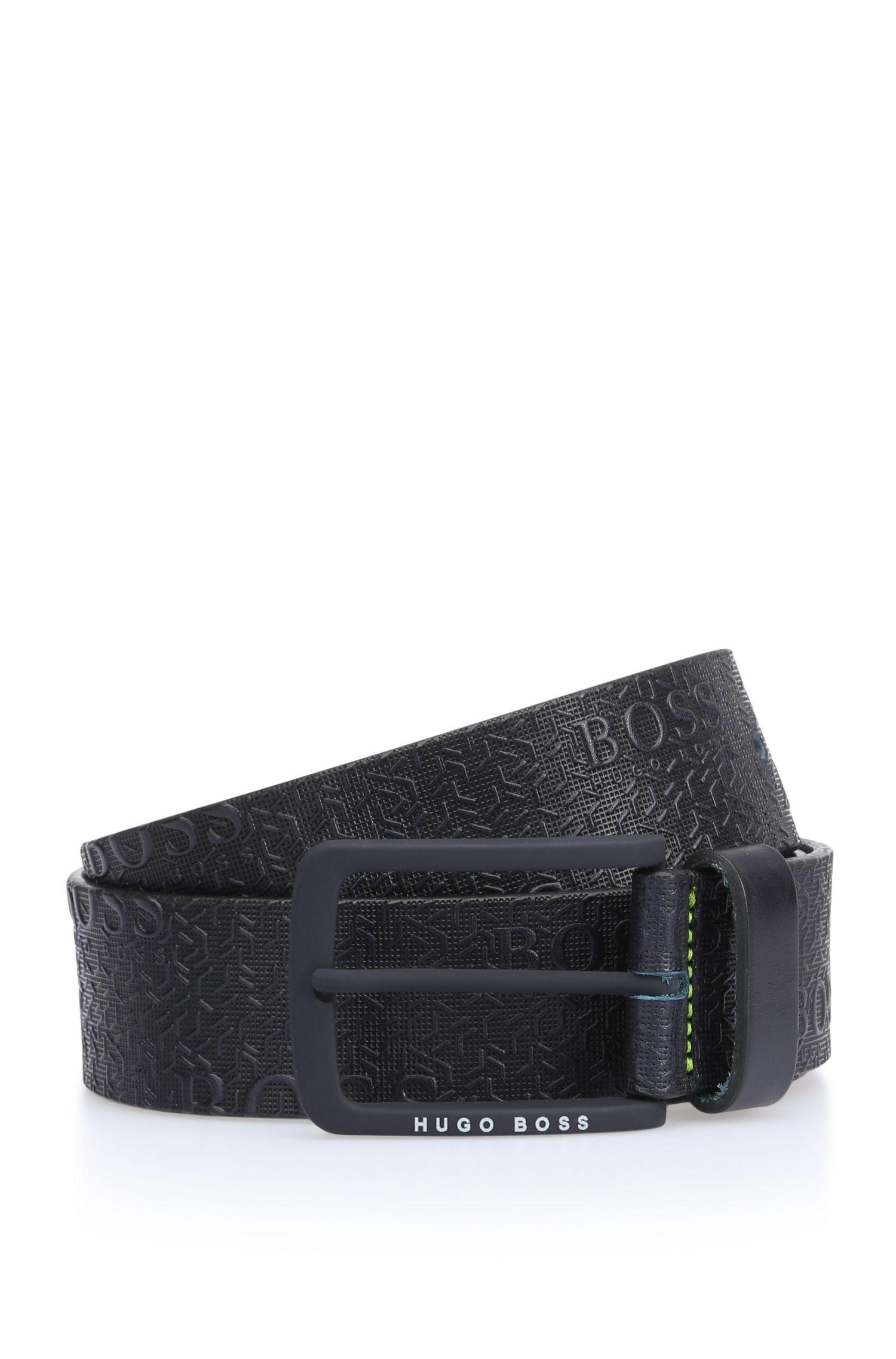 'Tad Sz40 ltem' | Leather Printed Belt