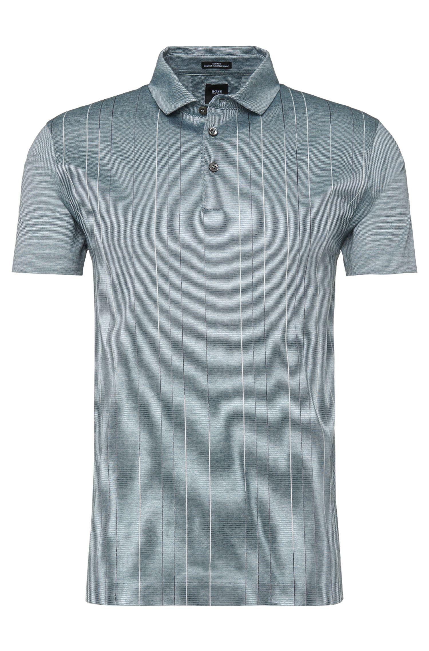 'T-Preston'   Slim Fit, Mercerized Cotton Polo