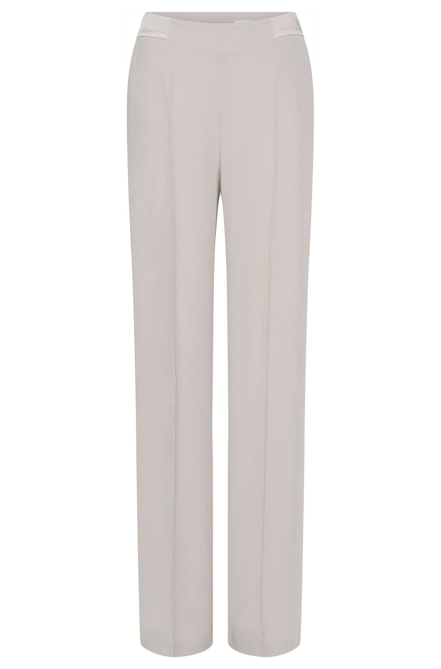 'Temietina' | Crepe Wide-Leg Trousers