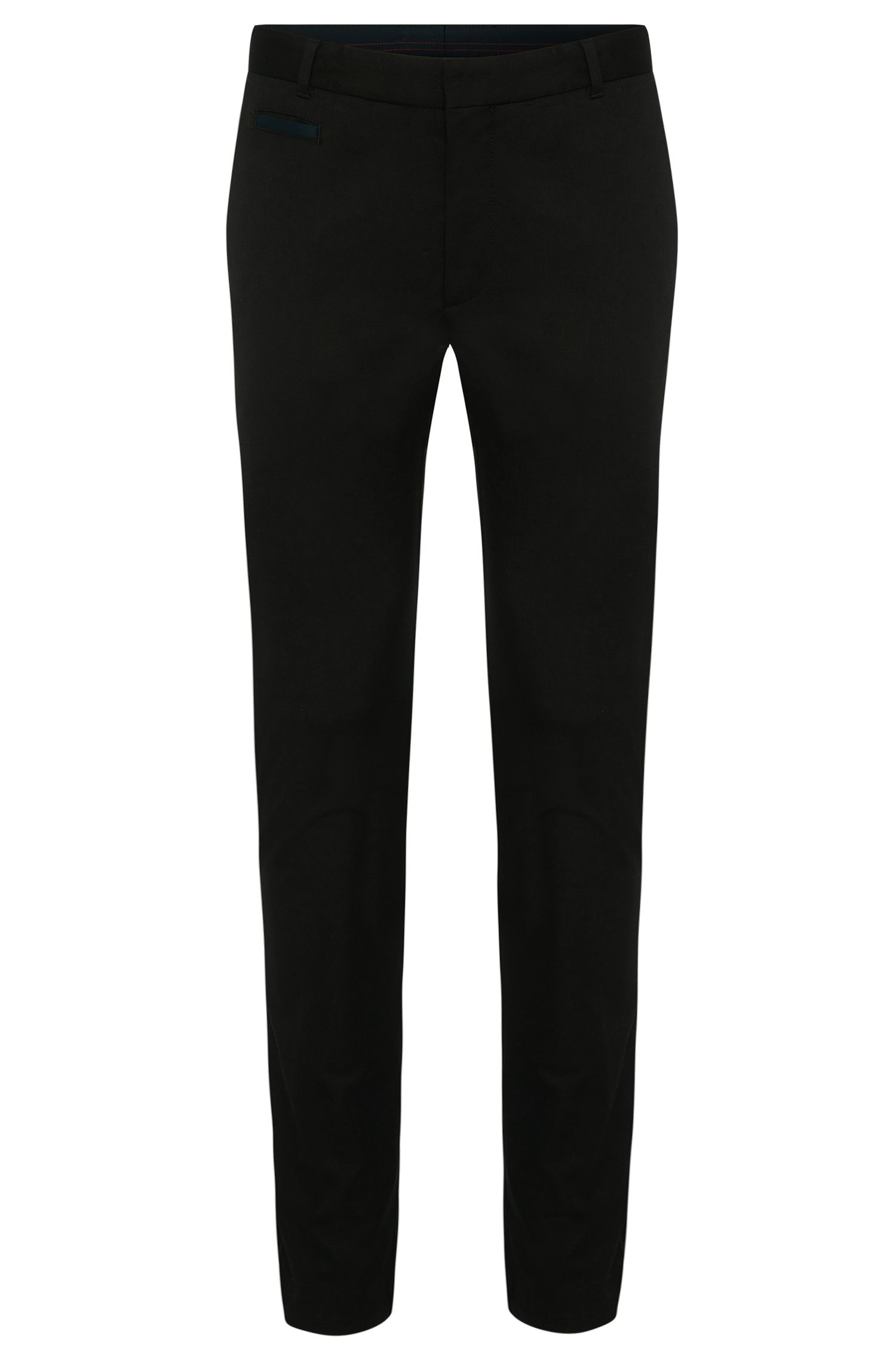 'Heralt' | Slim Fit, Stretch Cotton Trousers