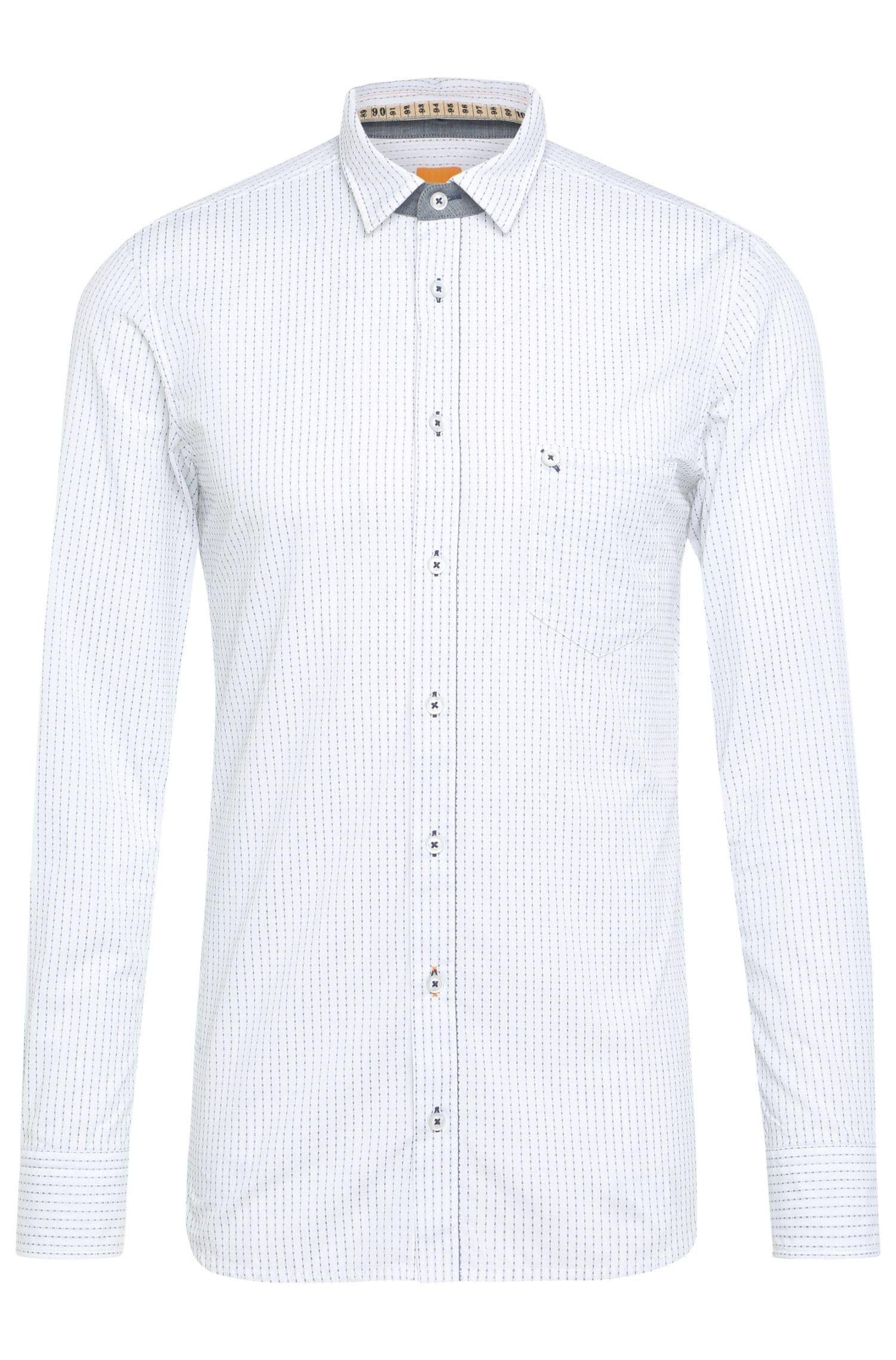 'EdeepE' | Regular Fit, Striped Cotton Button Down Shirt