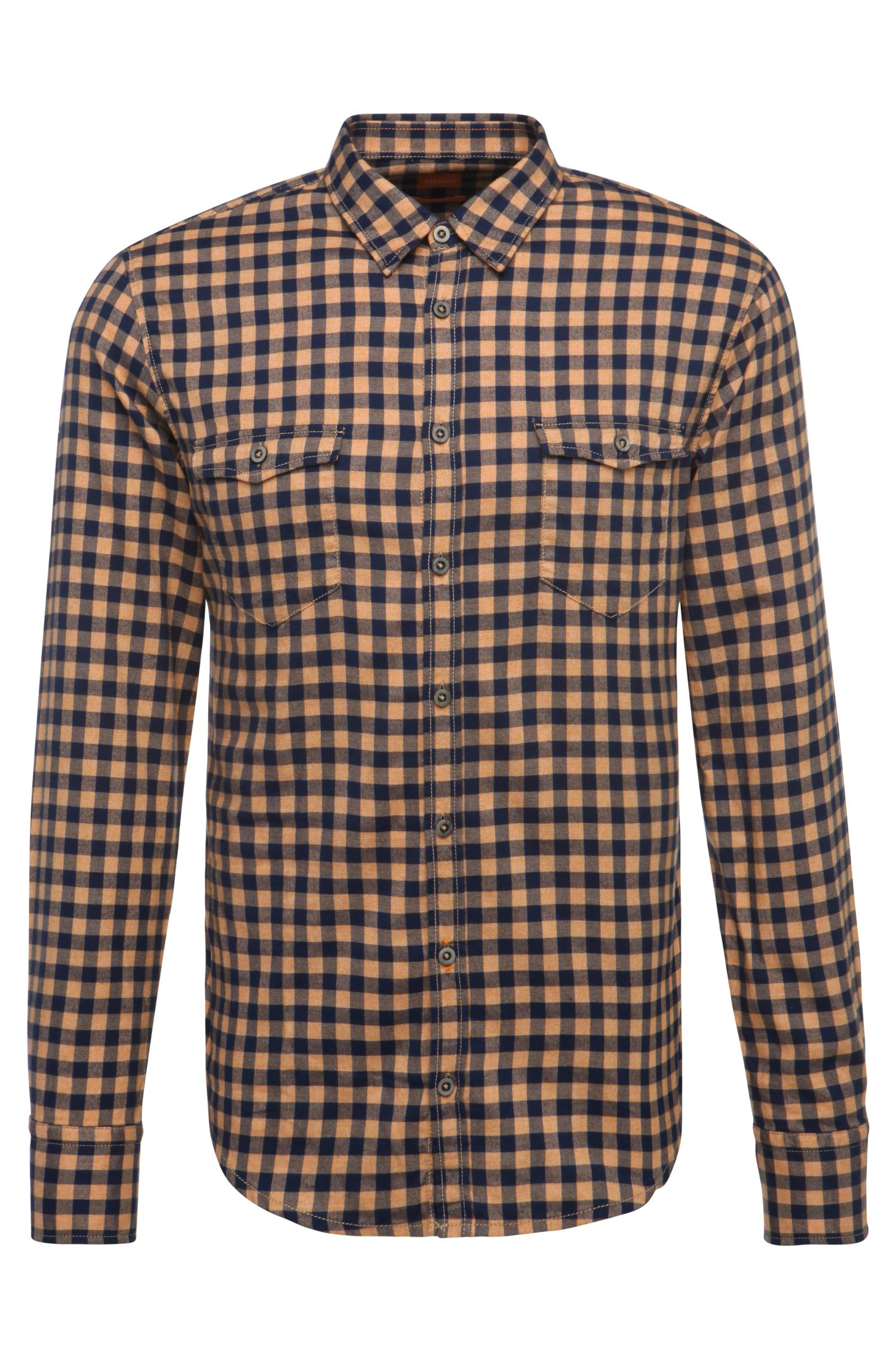 'EdoslimE' | Slim Fit, Cotton Flannel Button Down Shirt