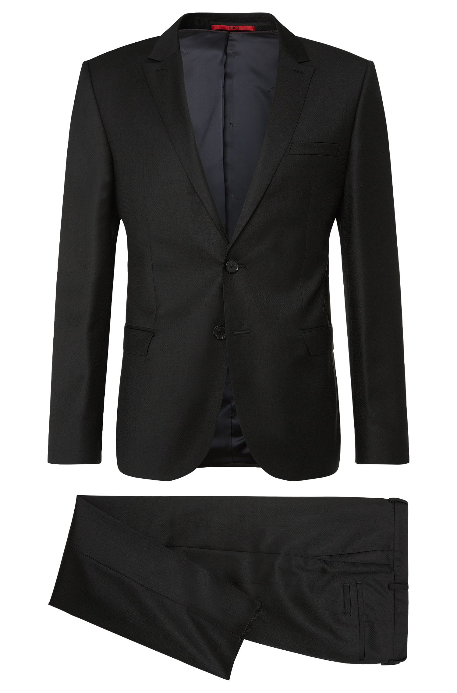 'Adan/Hallins' | Slim Fit, Virgin Wool-Silk Jacquard Suit