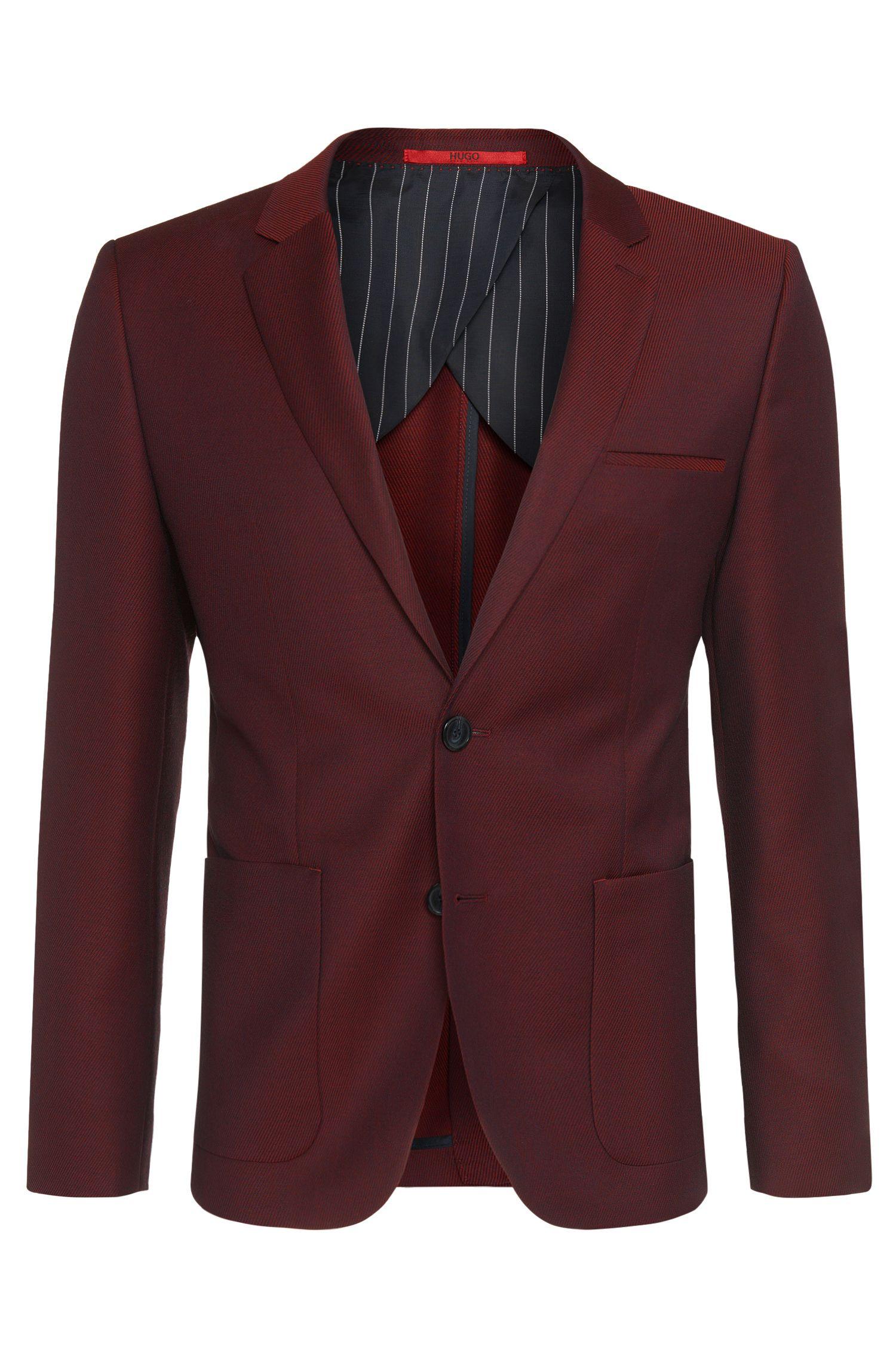 'Antano' | Slim Fit, Virgin Wool Contrast Twill Sport Coat