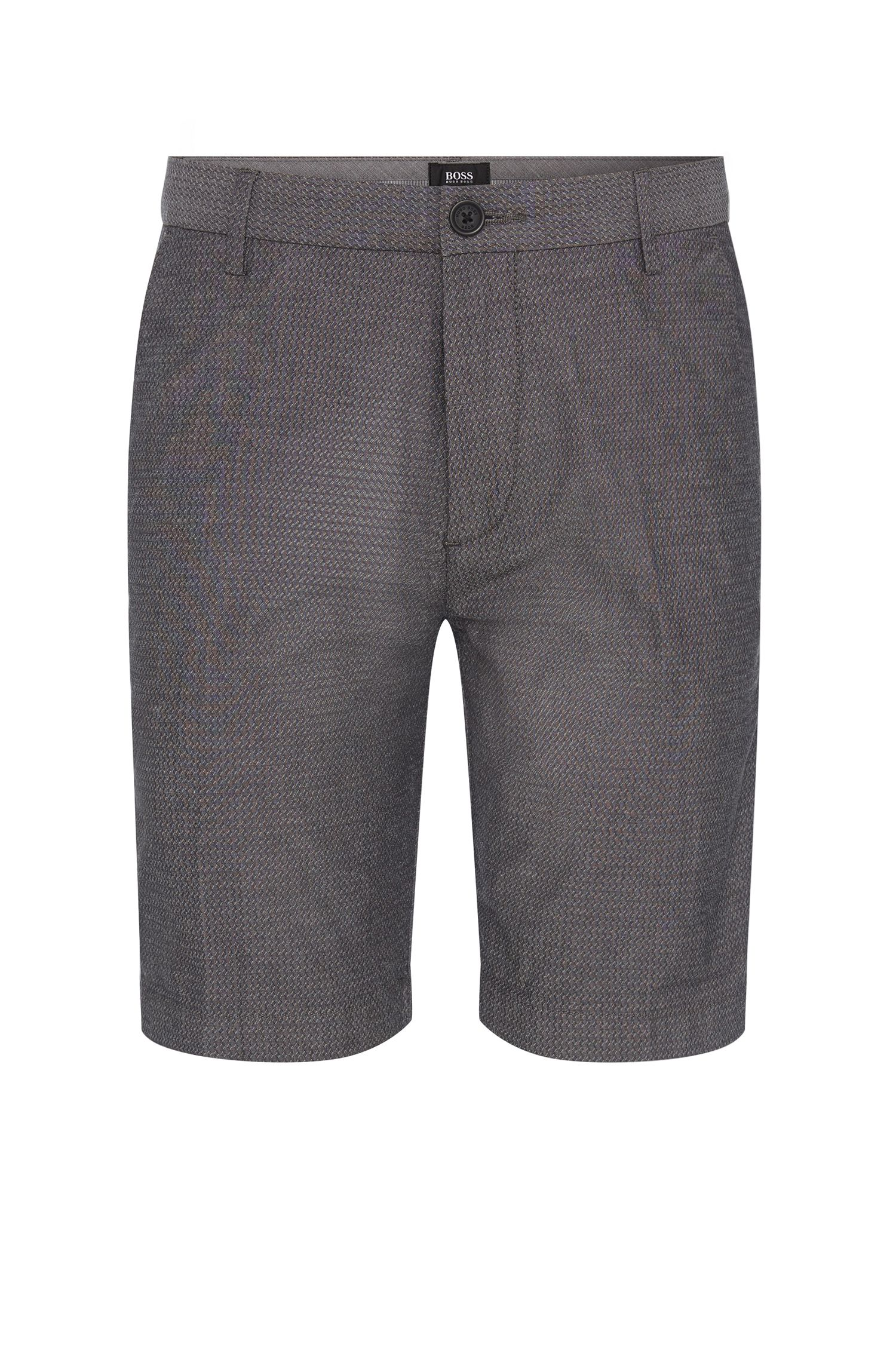 'RiceShort-W' | Slim Fit, Stretch Cotton Jacquard Shorts