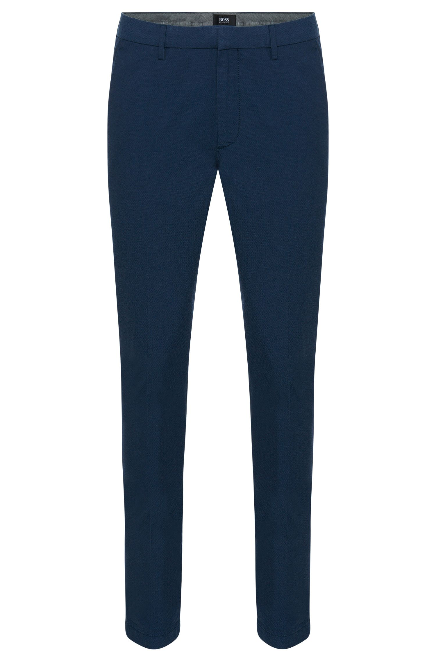 'Kaito-W' | Extra Slim Fit, Stretch Cotton Jacquard Pants